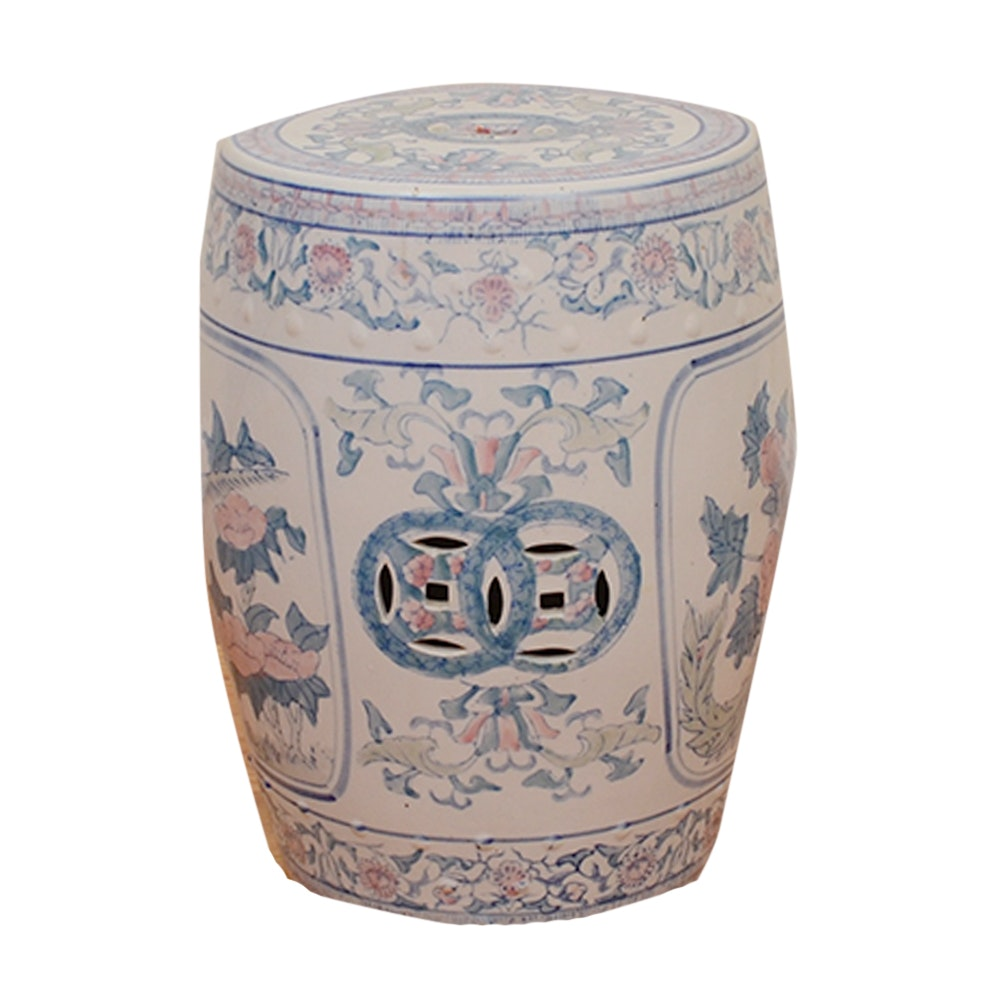 Chinese Hand-Painted Ceramic Garden Stool