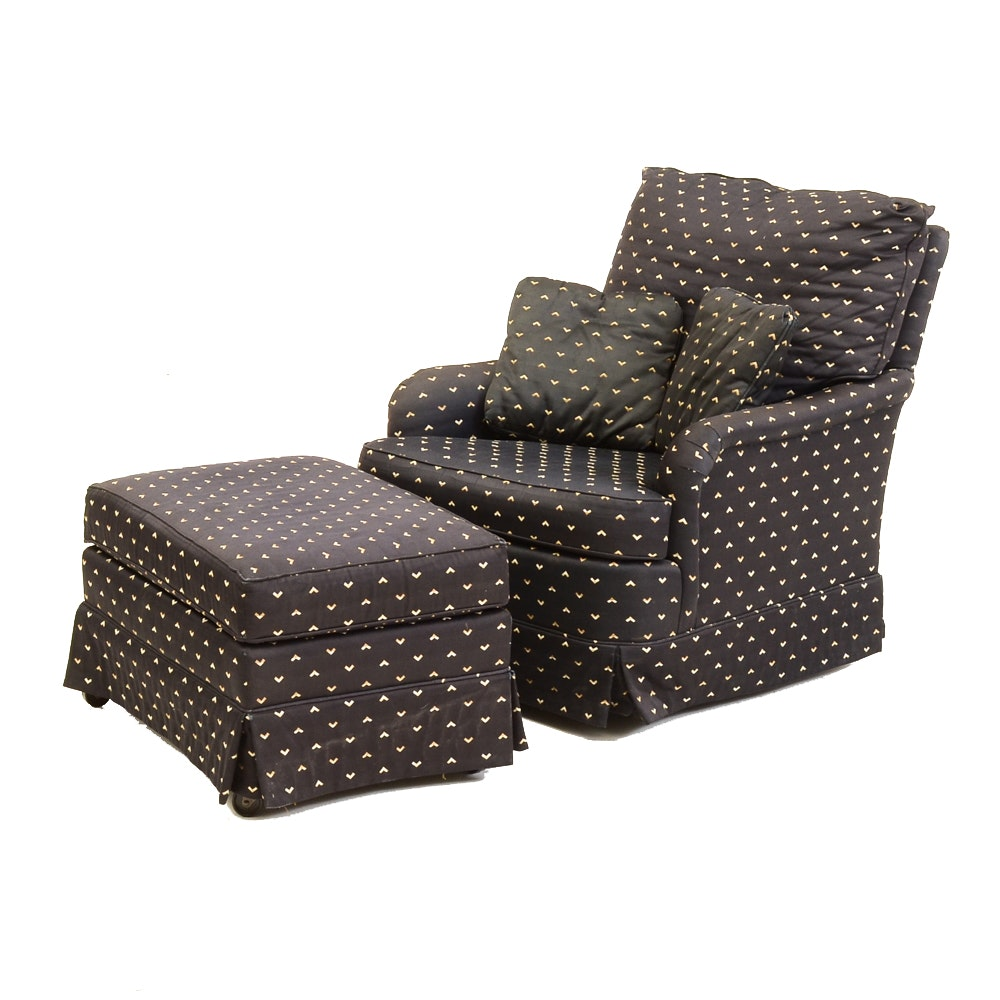 Sherrill Upholstered Lounge Chair and Ottoman
