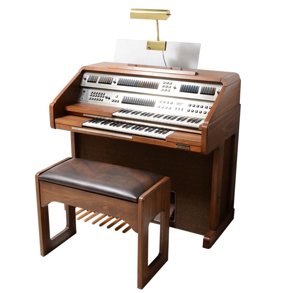 Vintage Baldwin Microcomputer Orchestra Organ and Bench