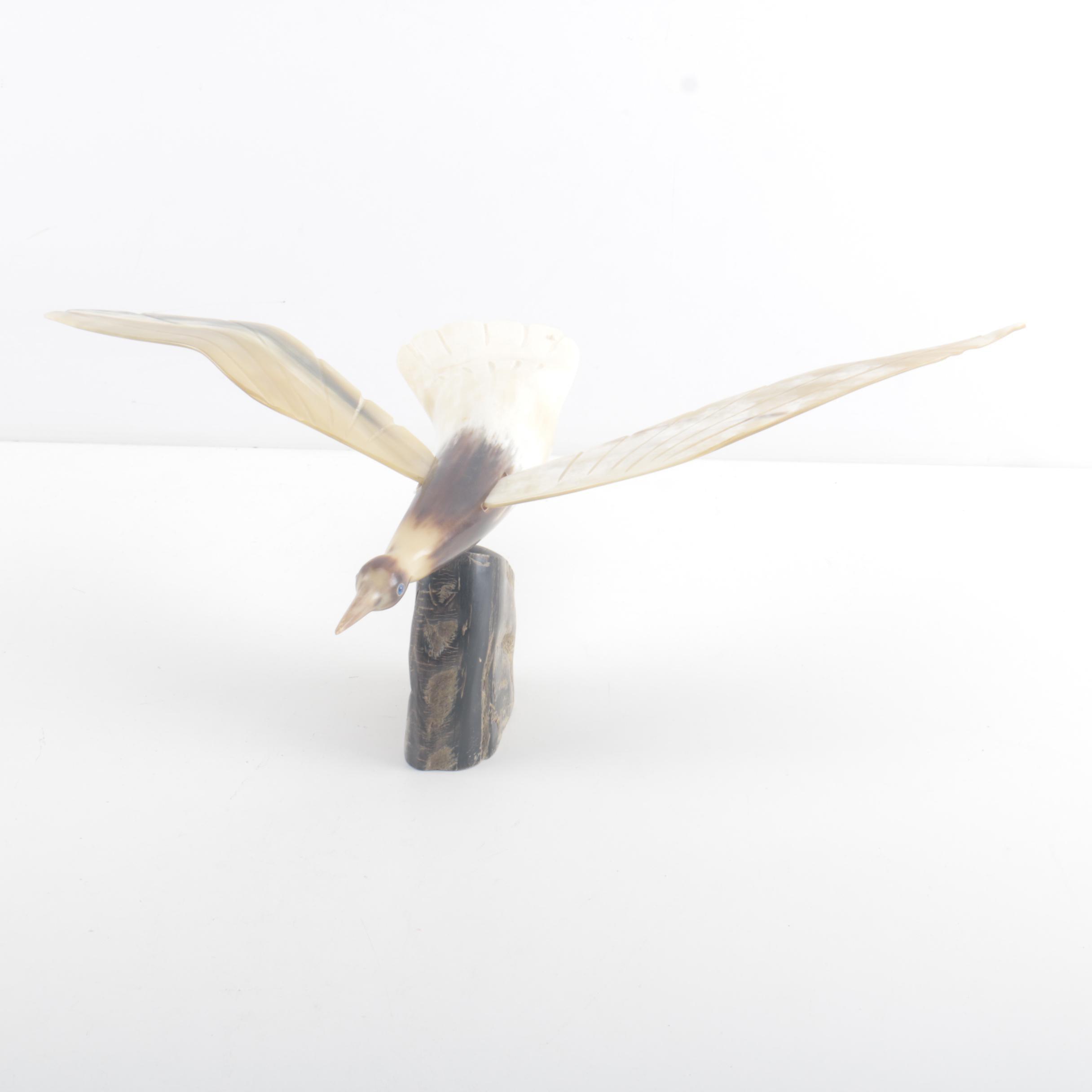 Bird Figurine Made From Horn