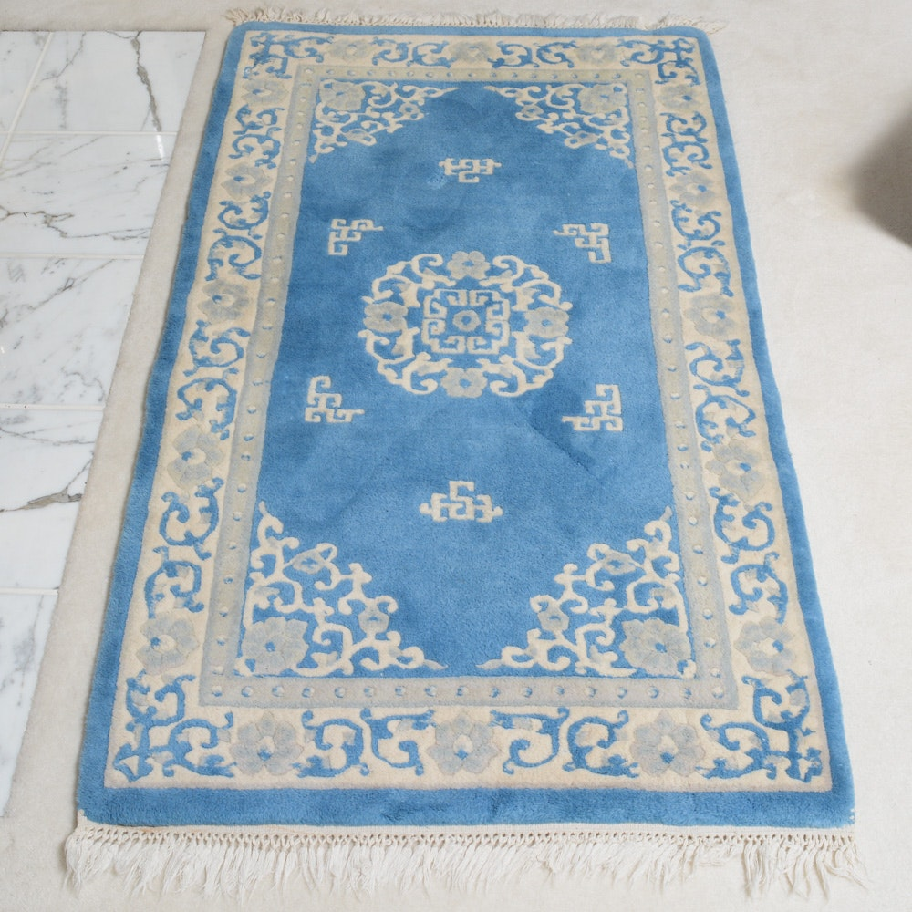 Hand-Knotted Indian Royal Rama Wool Area Rug