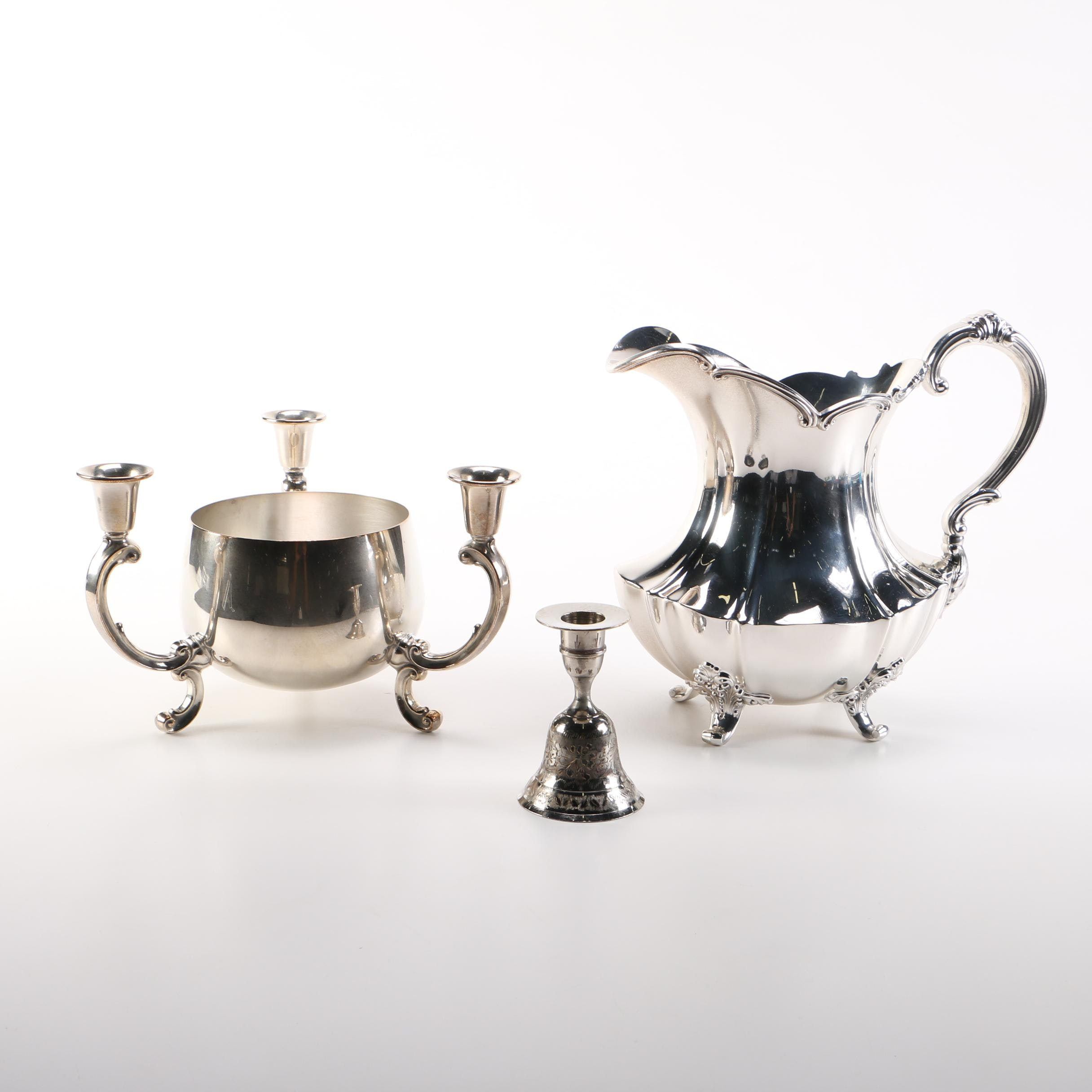 """Reed & Barton """"Victorian"""" Silver Plate Pitcher and Other Unique Silver Plate"""