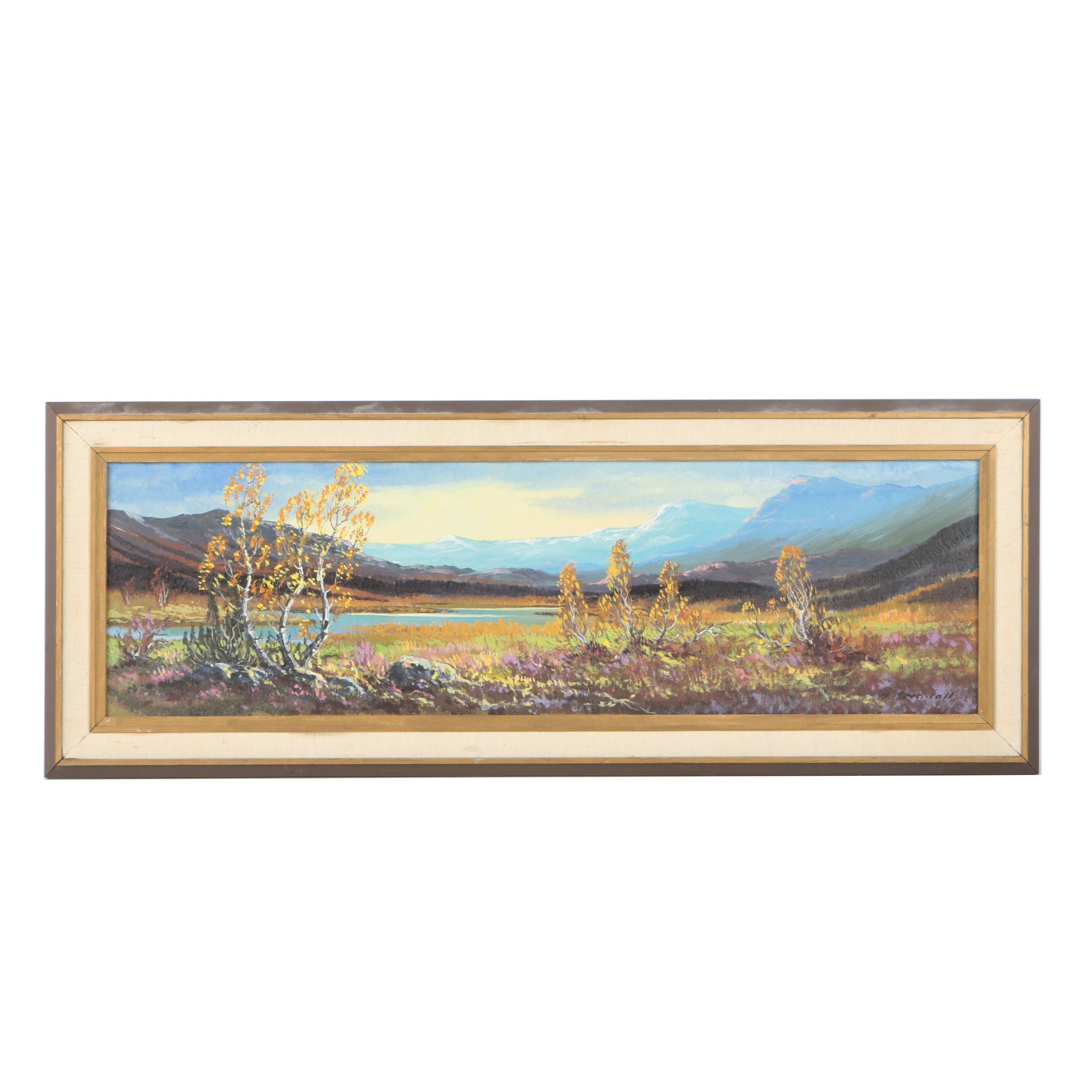 A. Stenvall Oil Painting of a Prairie