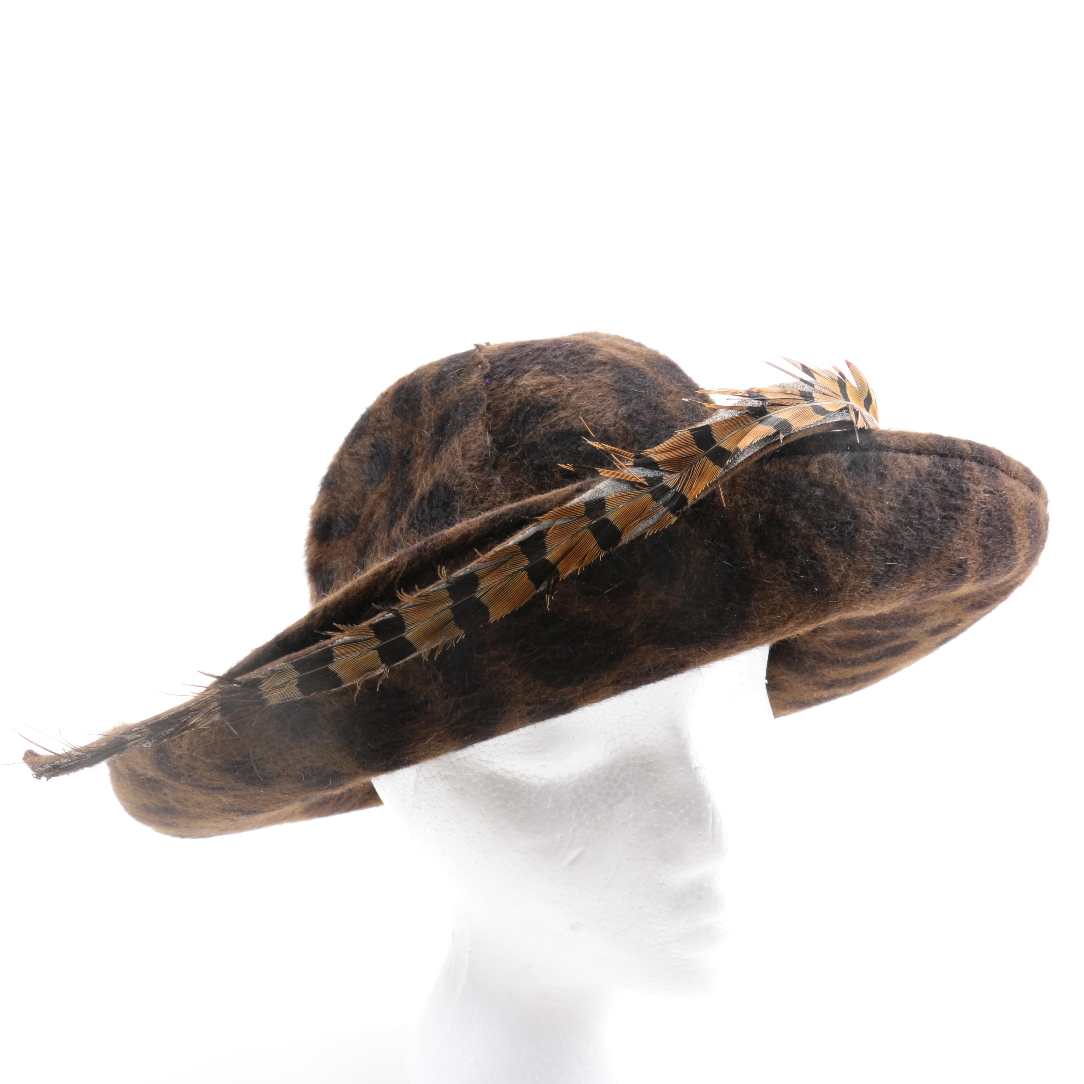 Oscar de la Renta Felted Beaver Hat