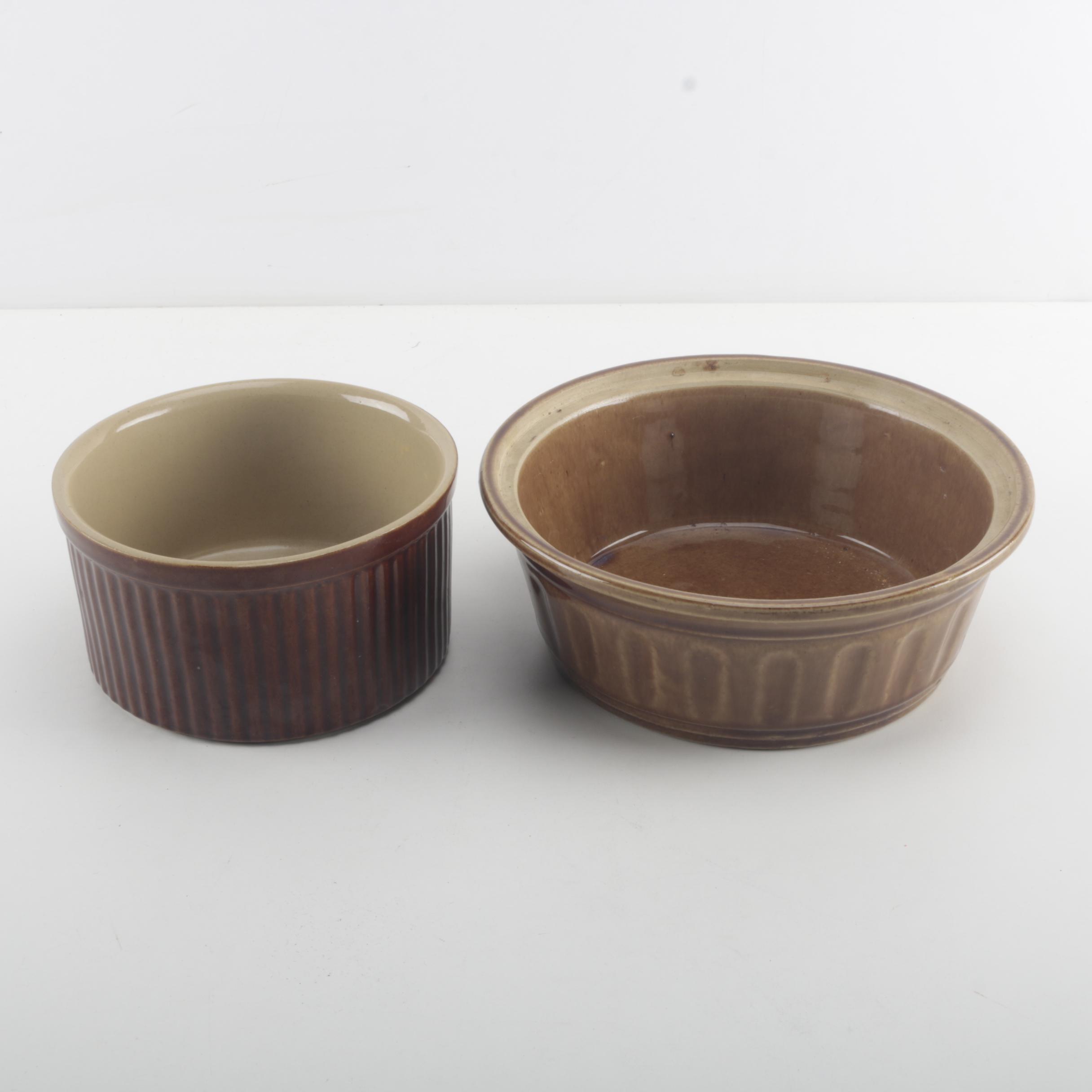 Brown Stoneware Bowls