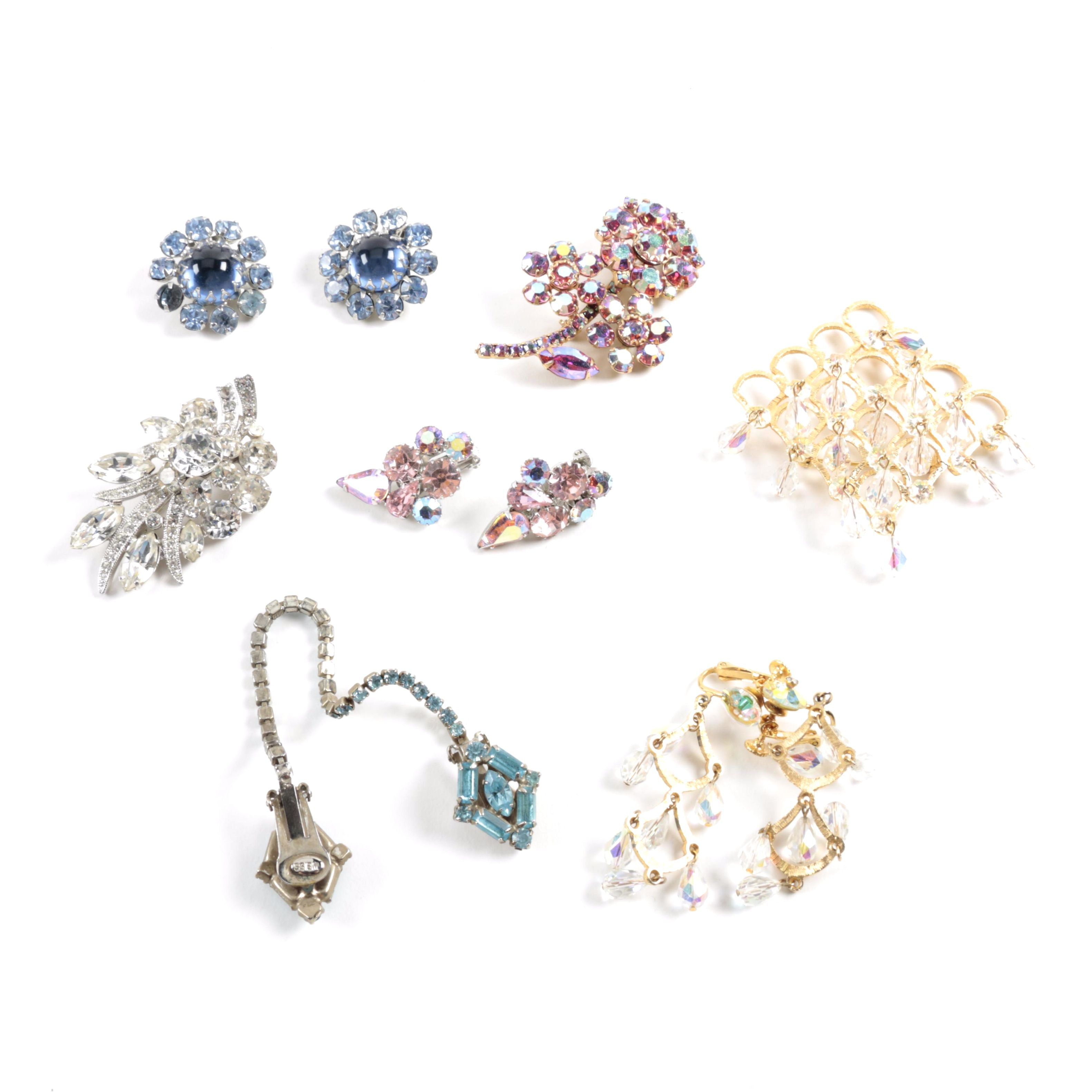 Vintage Costume Jewelry Including Eisenberg Ice and Weiss