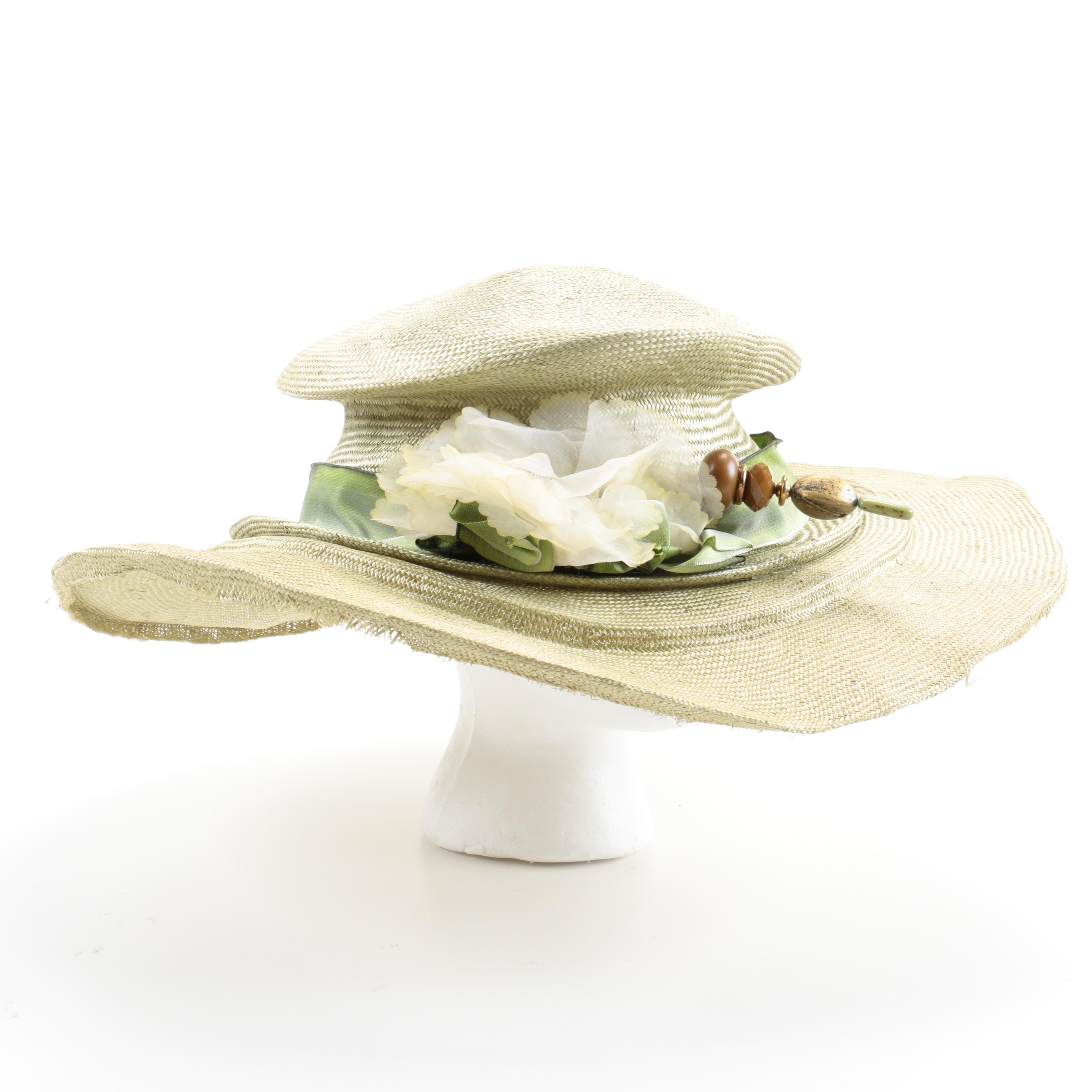 Harriet Rosebud Woven Hat