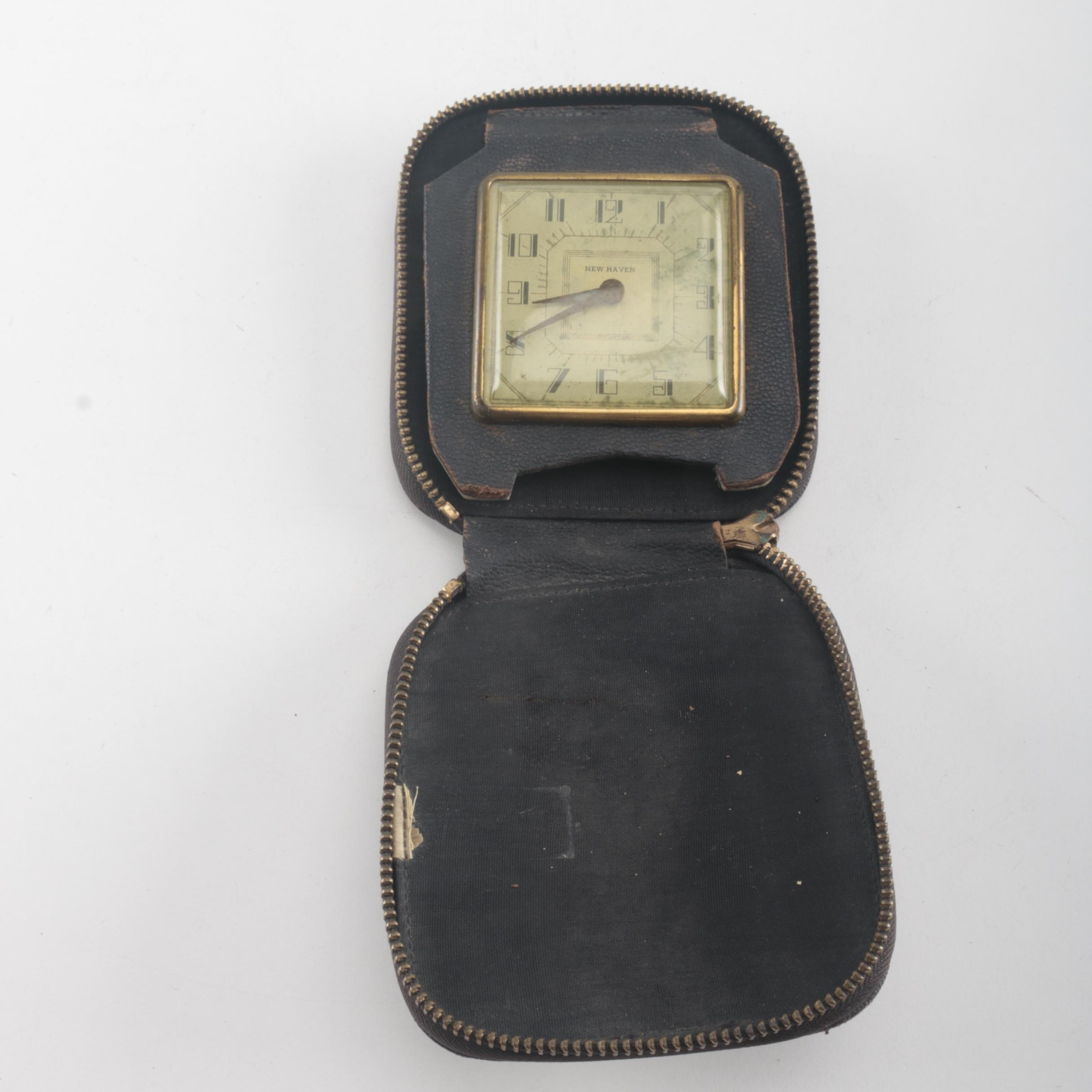 Antique New Haven Travel Clock