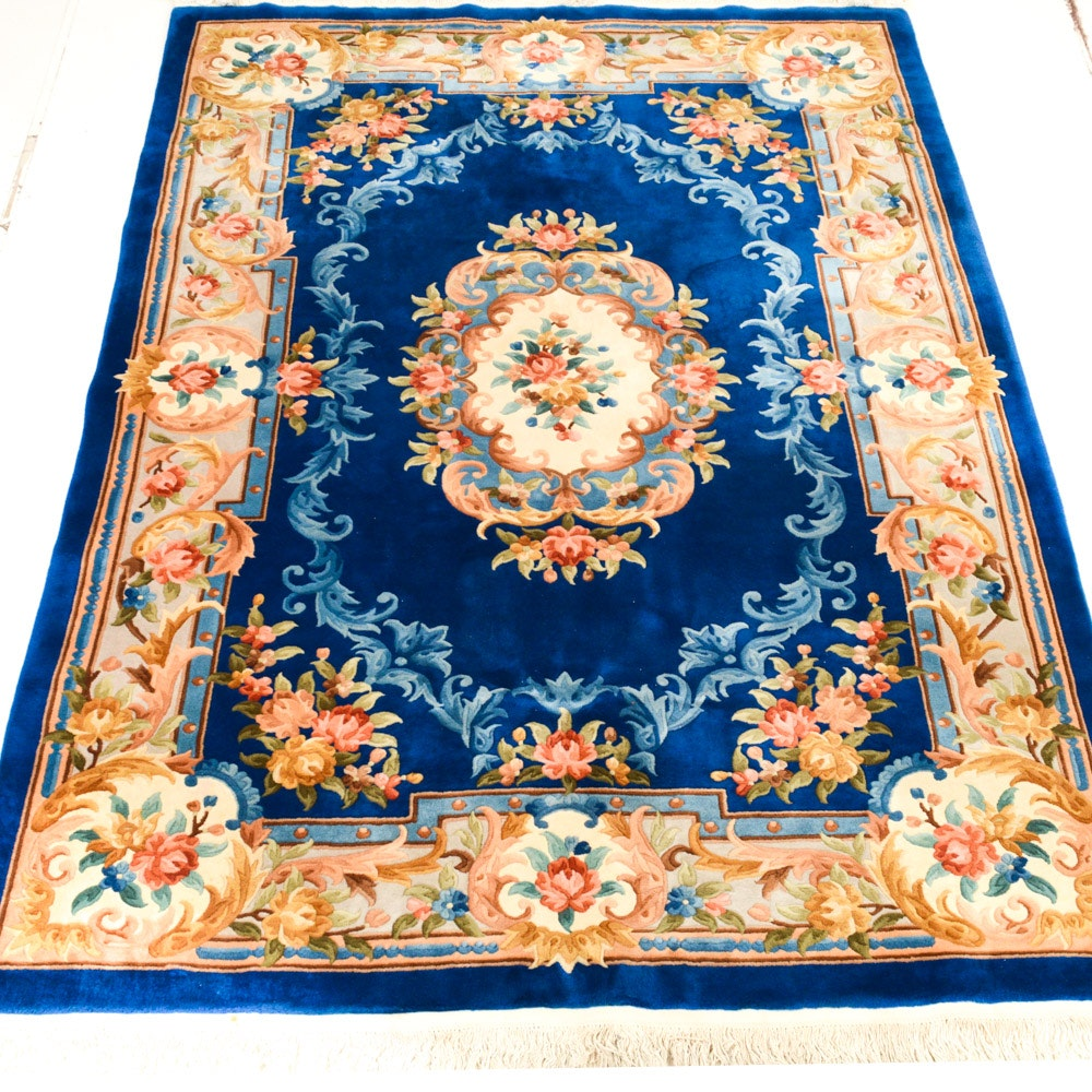 Custom Hand-Knotted Chinese Wuhan Area Rug