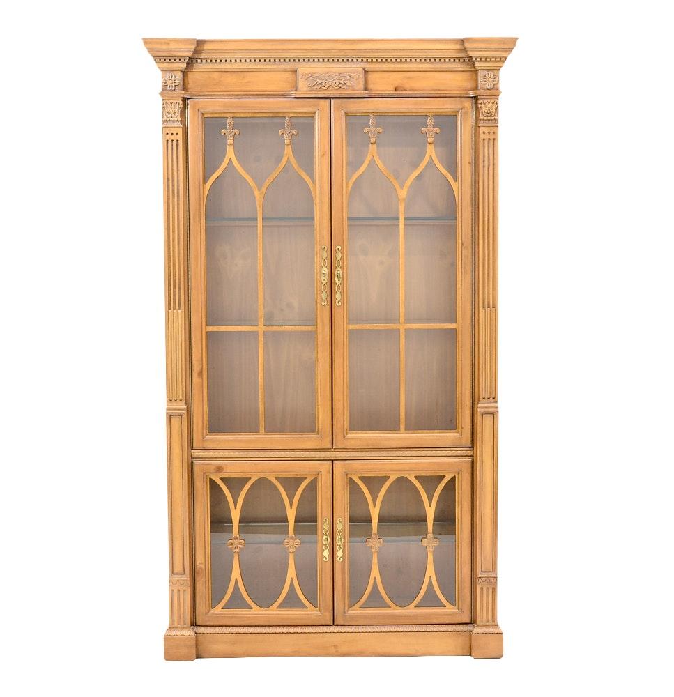 Georgian Style Pine Display Cabinet by Bernhardt
