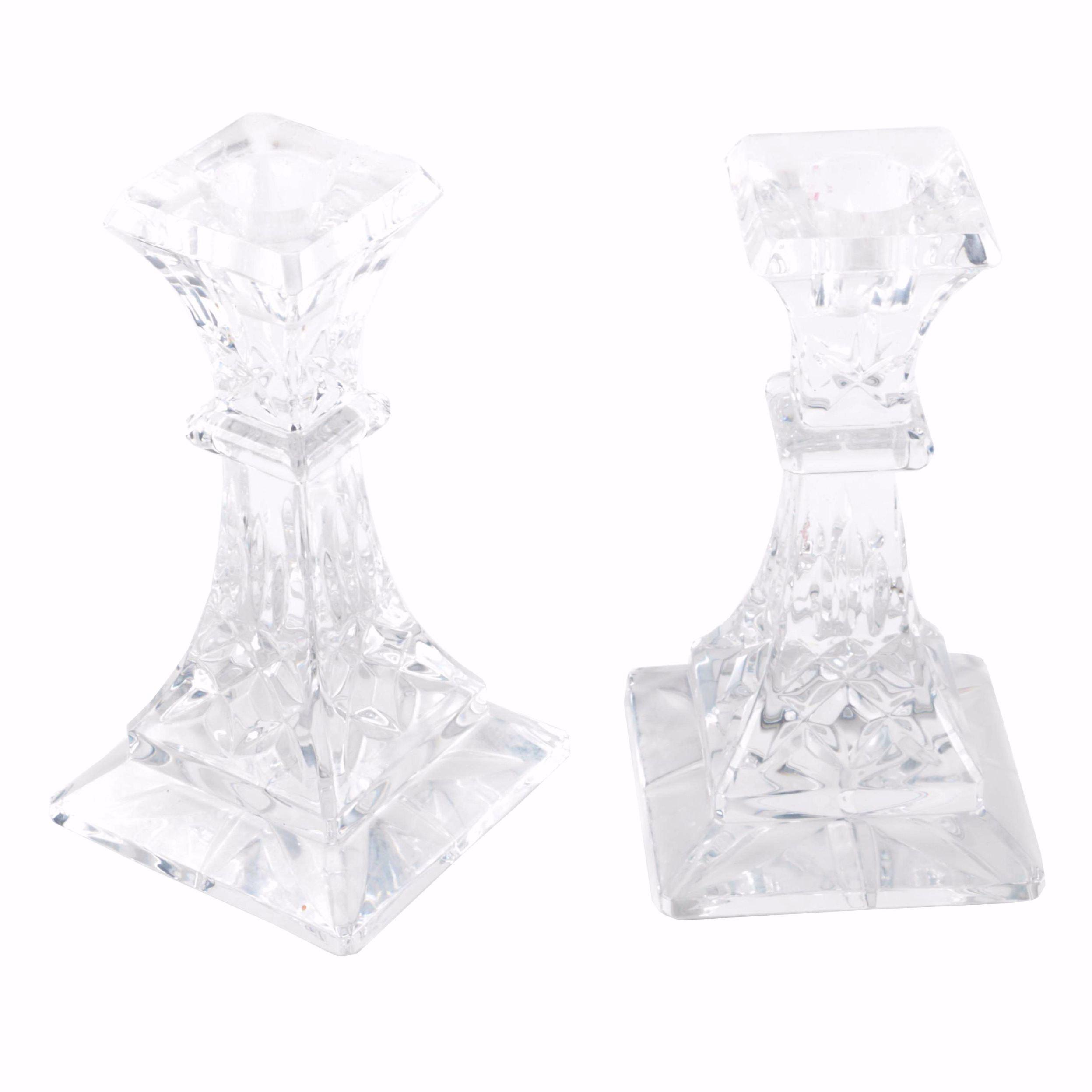 "Waterford ""Lismore"" Crystal Candlesticks"