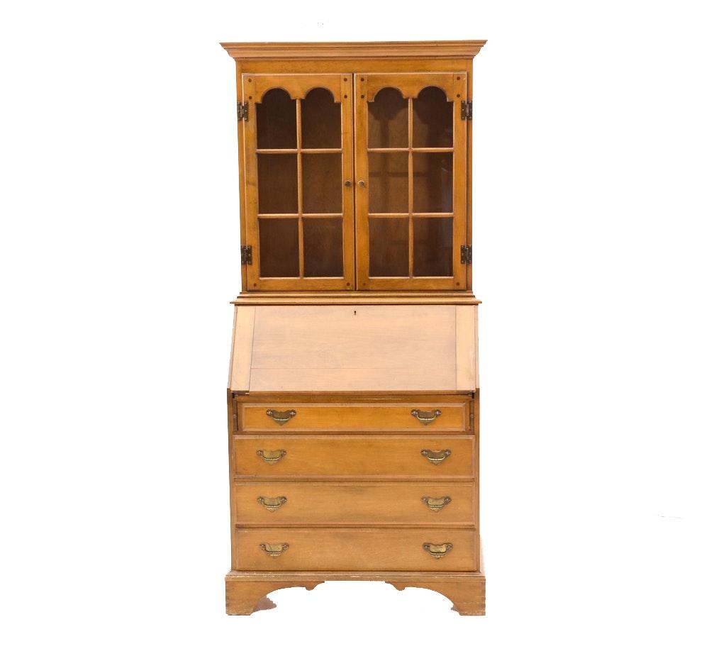Early American Style Maple Secretary Desk