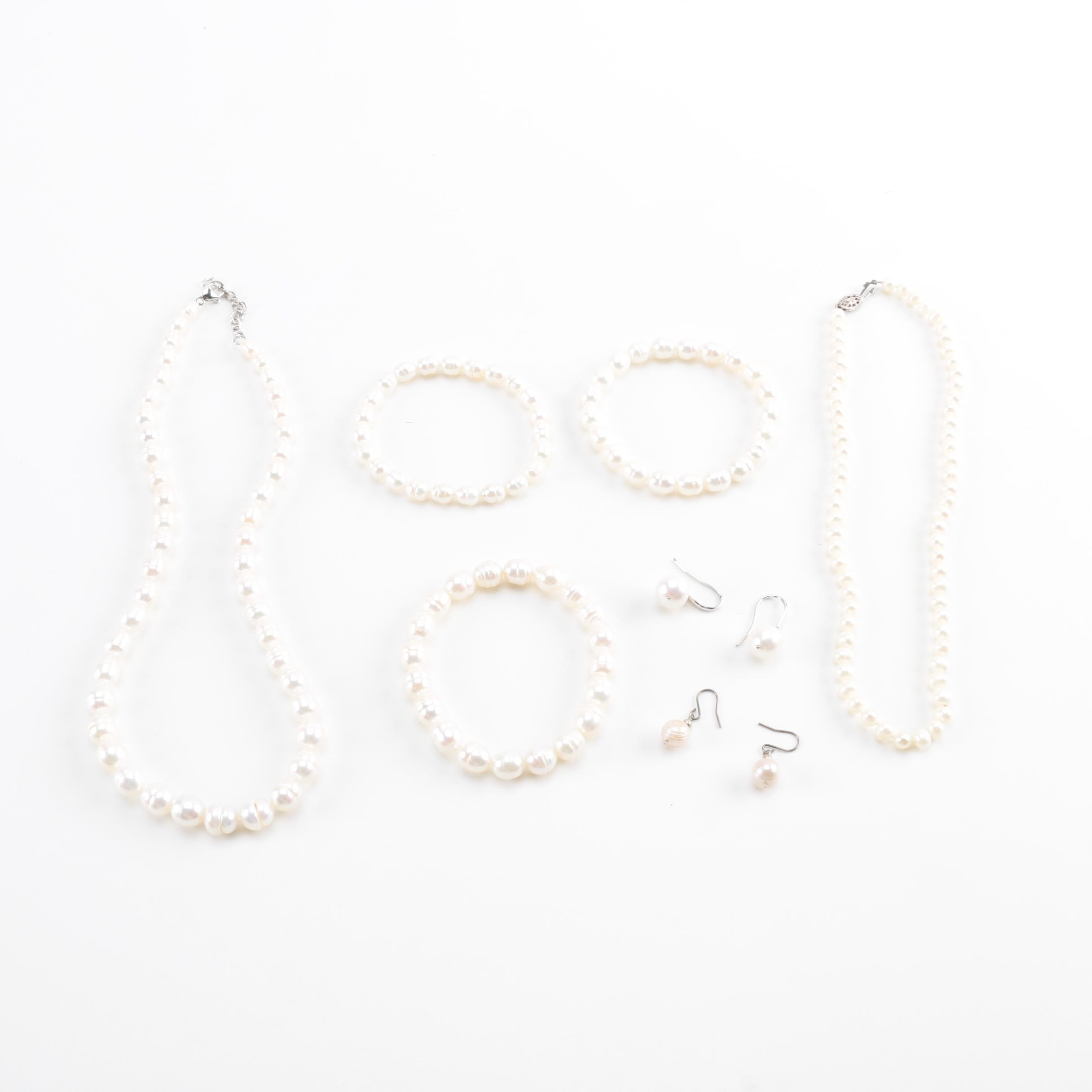 Sterling Silver and Cultured Pearl Jewelry