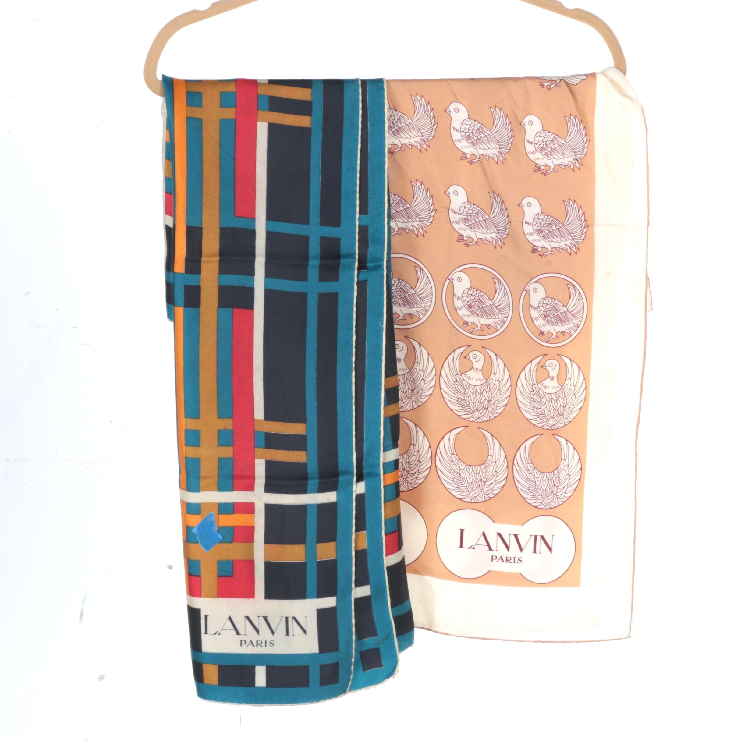 Silk Scarves By Lanvin Paris