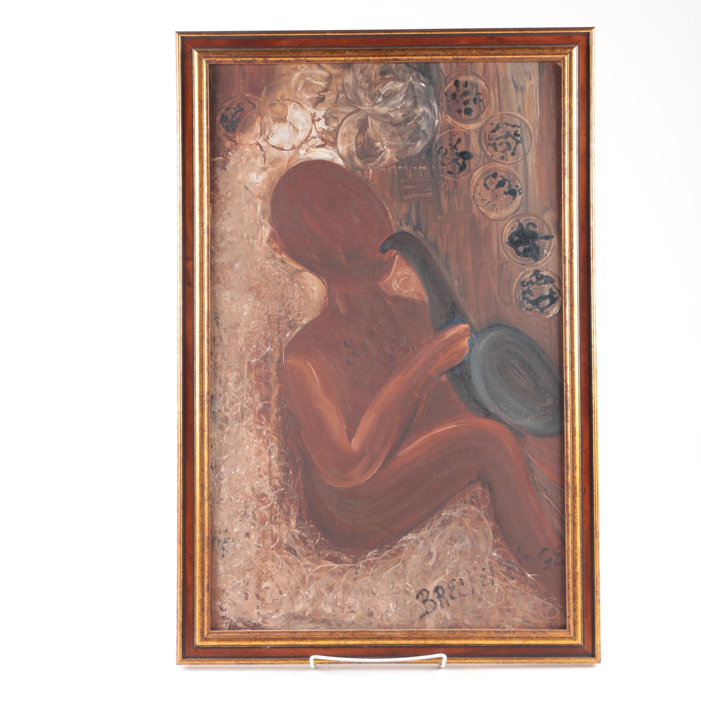 Breckenridge Acrylic Painting on Academy Board of Saxophone Player