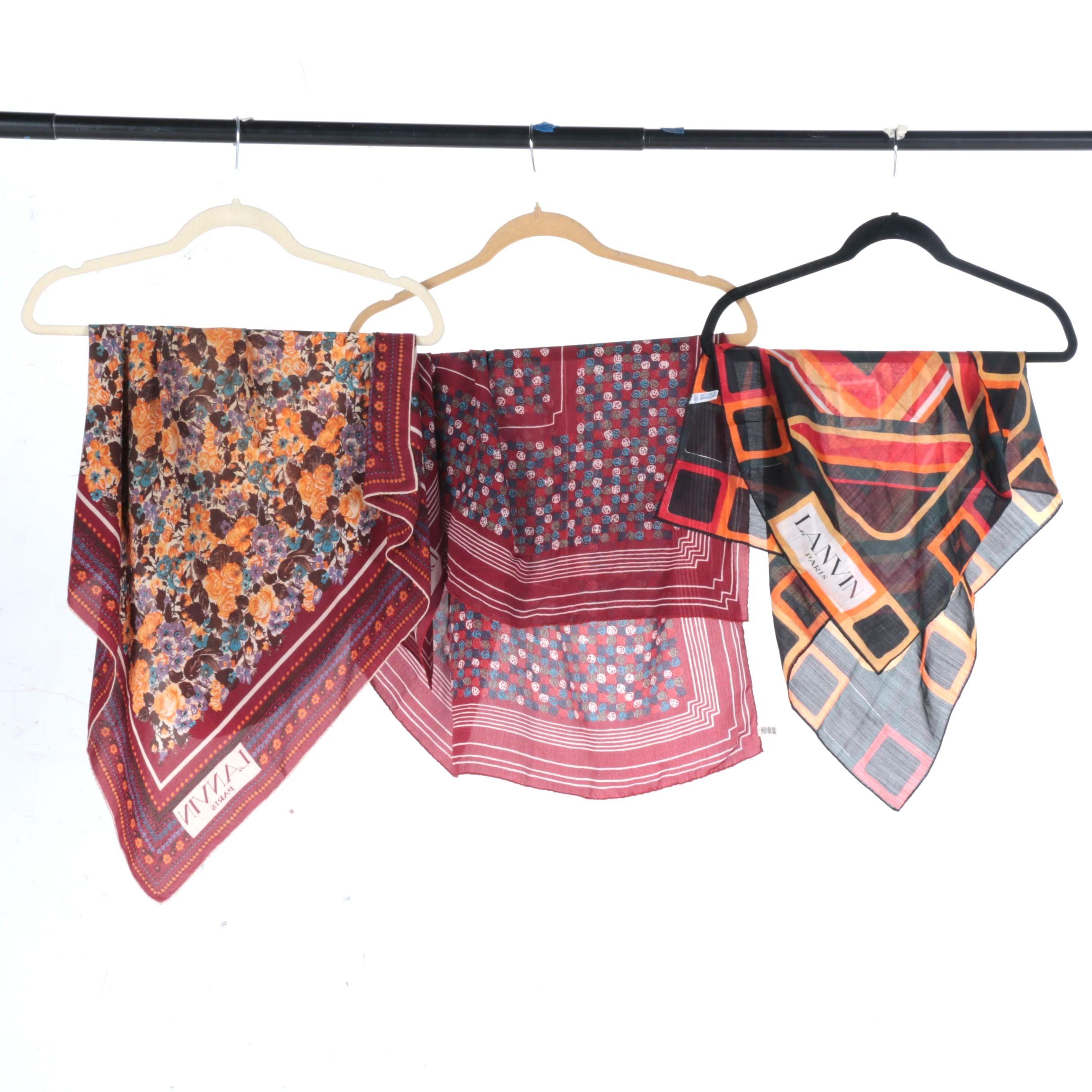 Lanvin Paris Silk Scarves