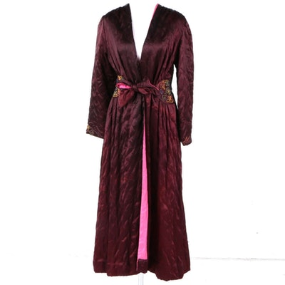Circa 1940s Quilted Robe