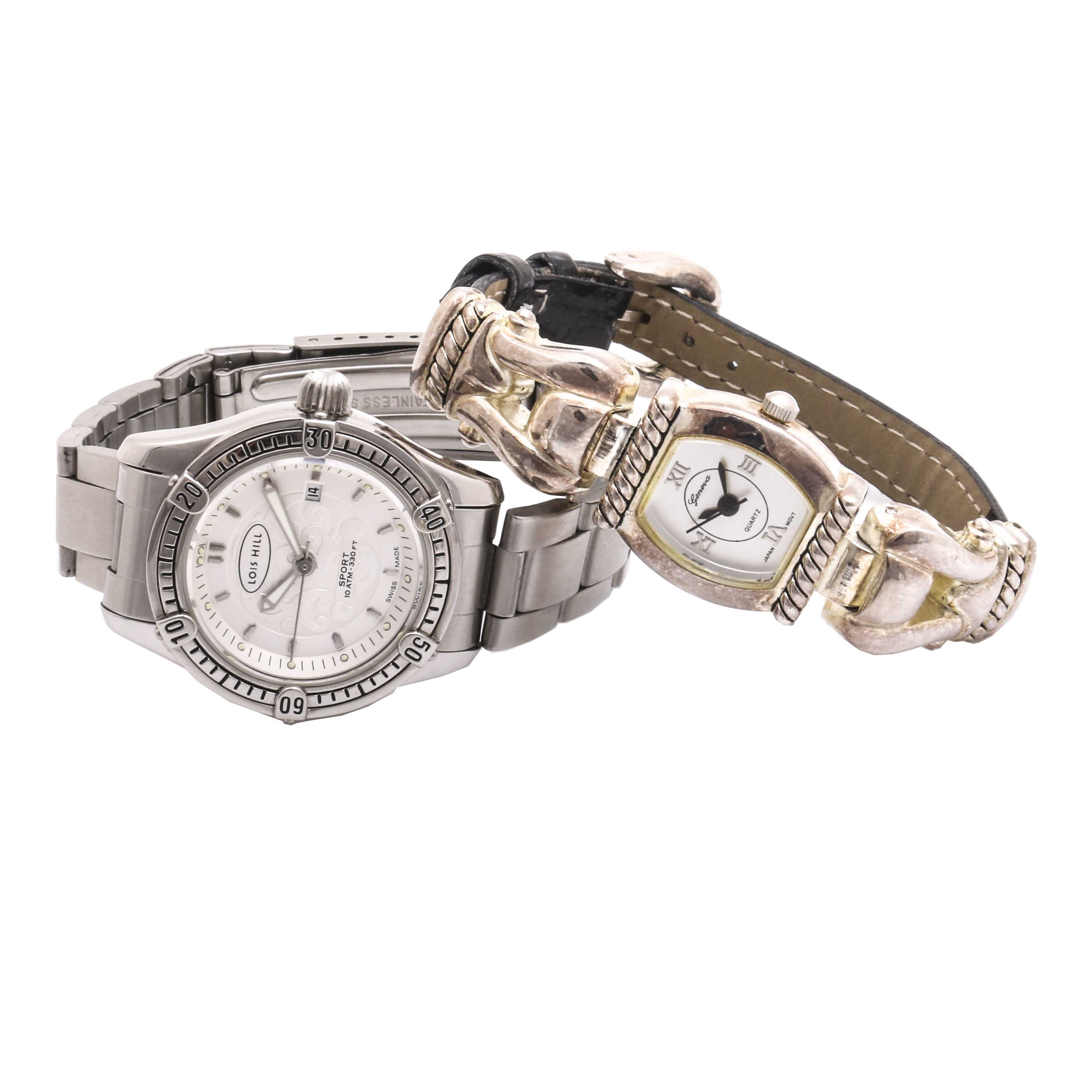 Selection of Geneva Quartz  and Lois Hill Stainless Steel Wristwatches