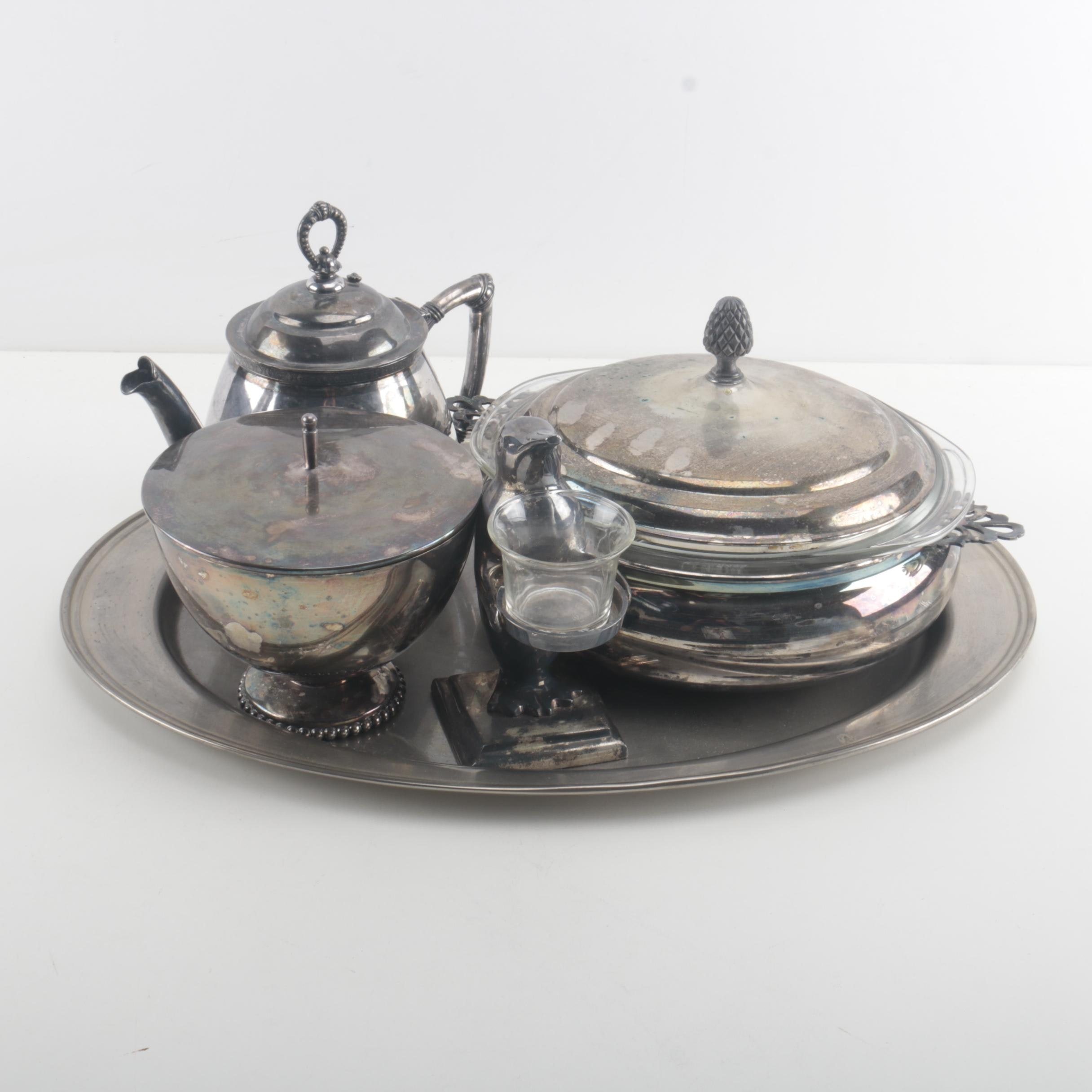 Assortment of Silver Plate Servingware Featuring Reed & Barton