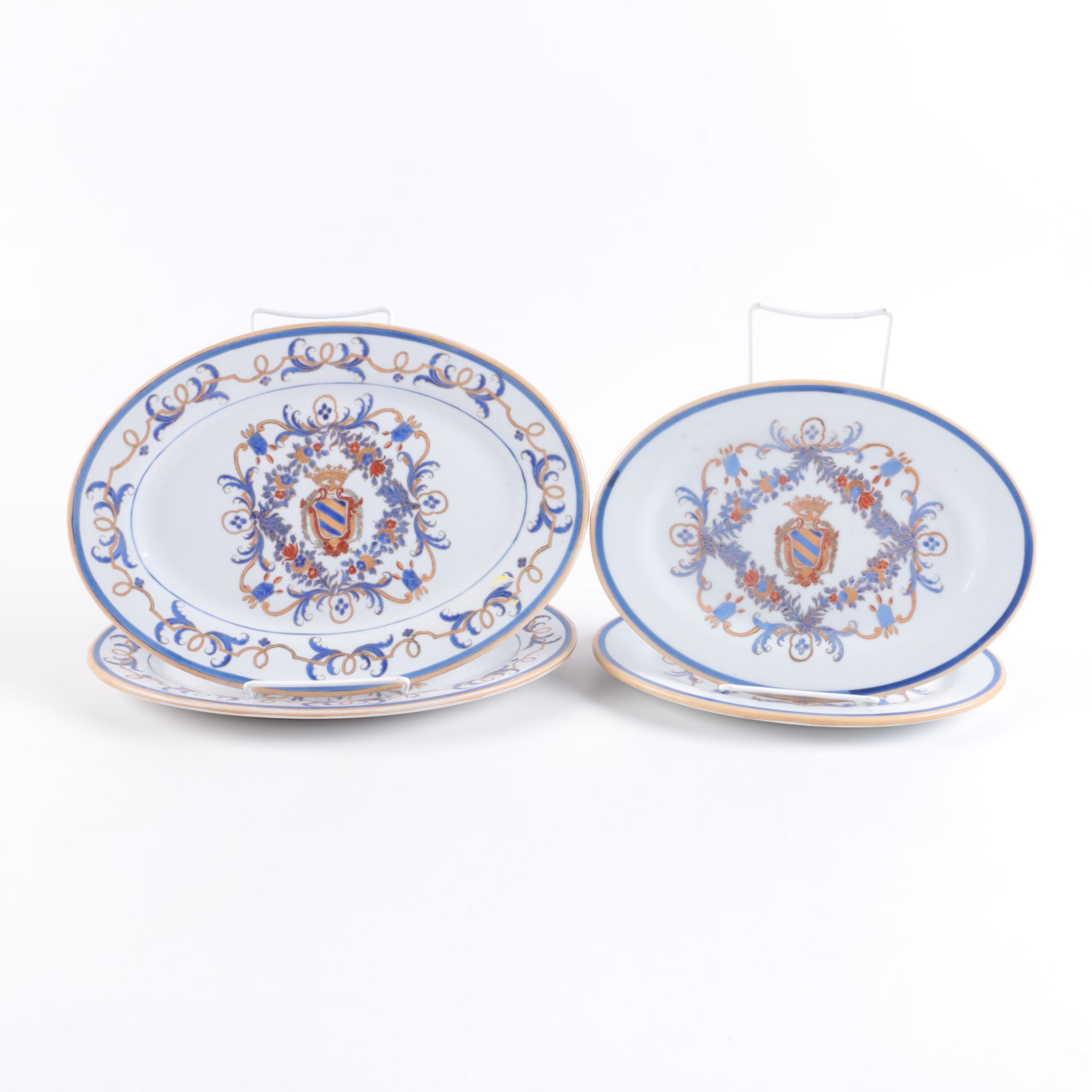 Vintage Armorial Decorated Porcelain