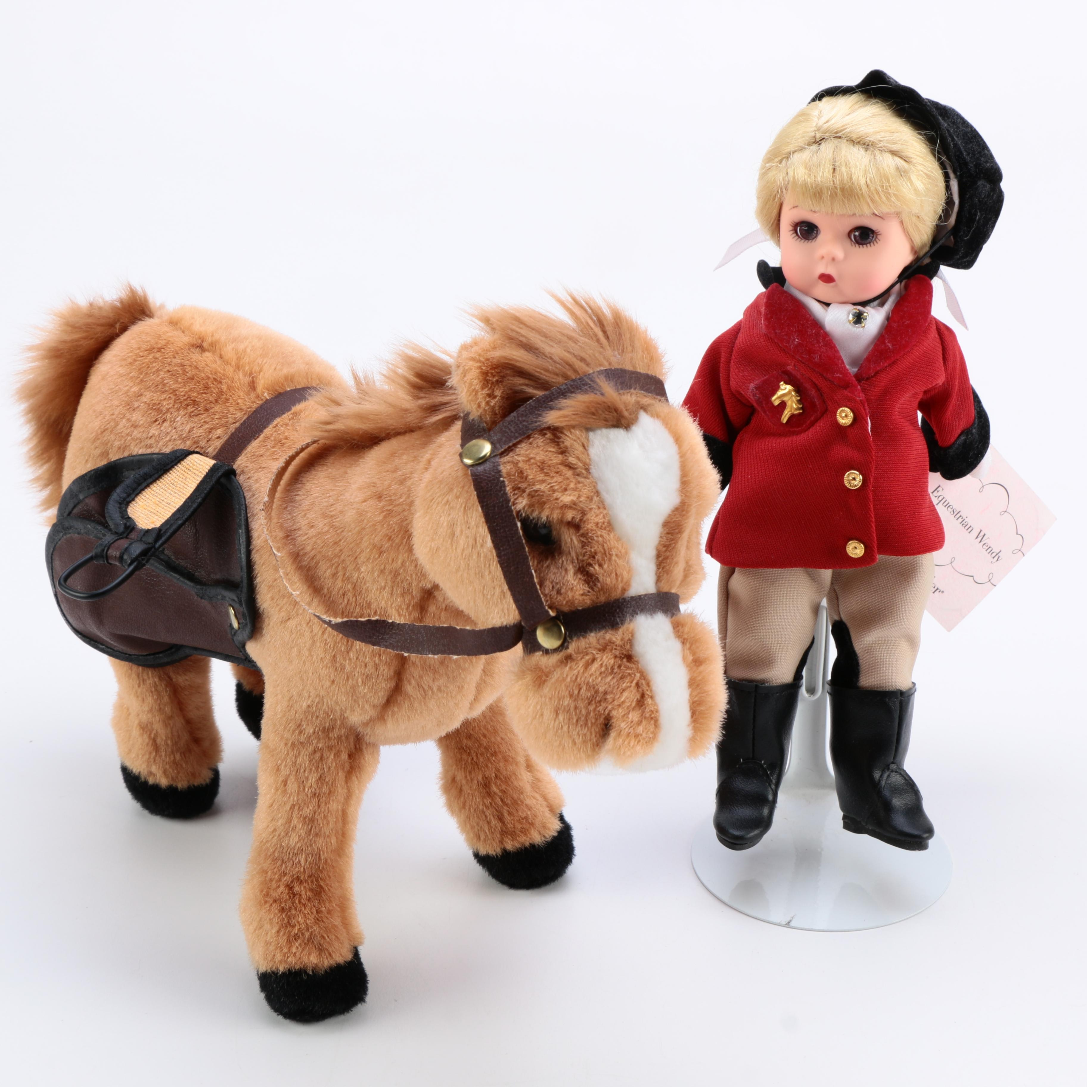"""Madame Alexander """"Equestrian Wendy"""" and Horse"""