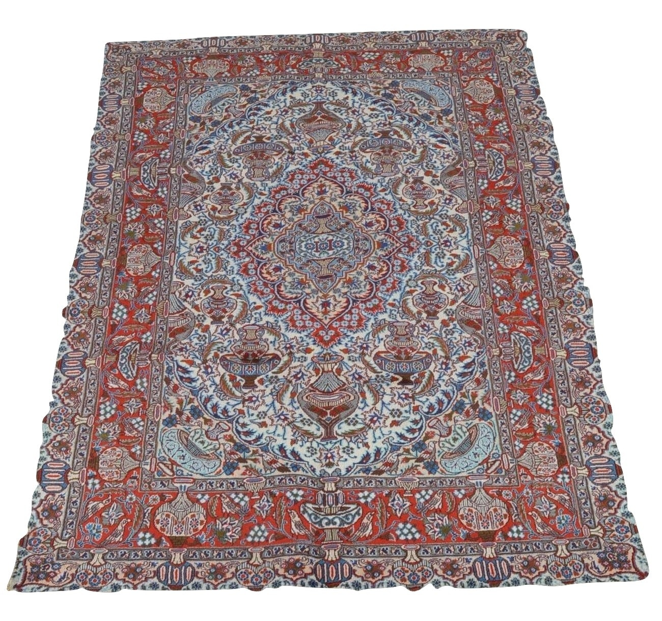 Room-Sized Hand-Knotted Persian Tabriz Vase Carpet