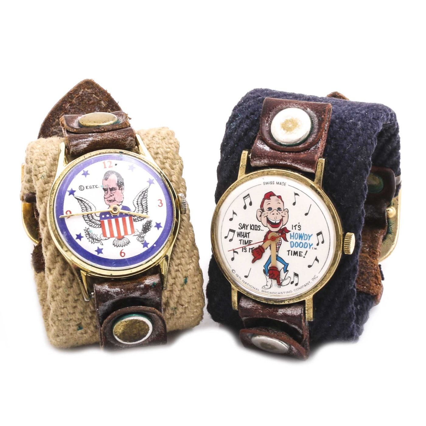 Richard Nixon Watchmen: Richard Nixon And Howdy Doody Character Watches