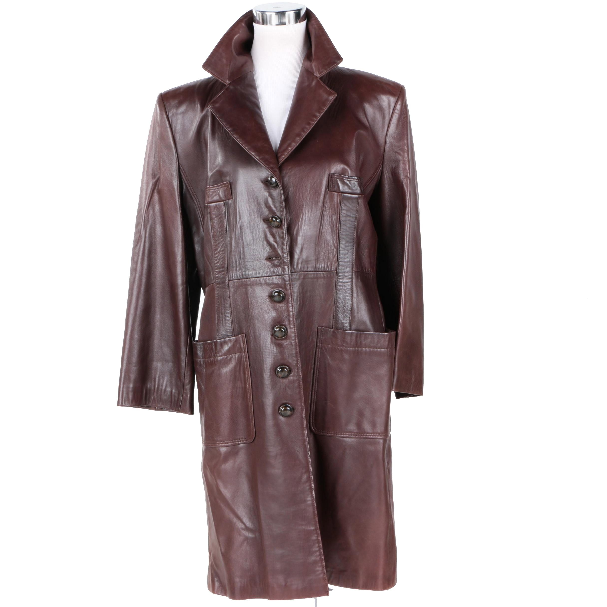 Sonia Rykiel Paris Women's Dyed Lambskin Leather Coat