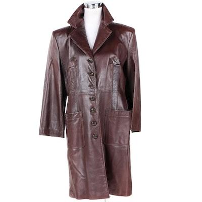 Sonia Rykiel Paris Women's Dyed Lambskin Leather Coat