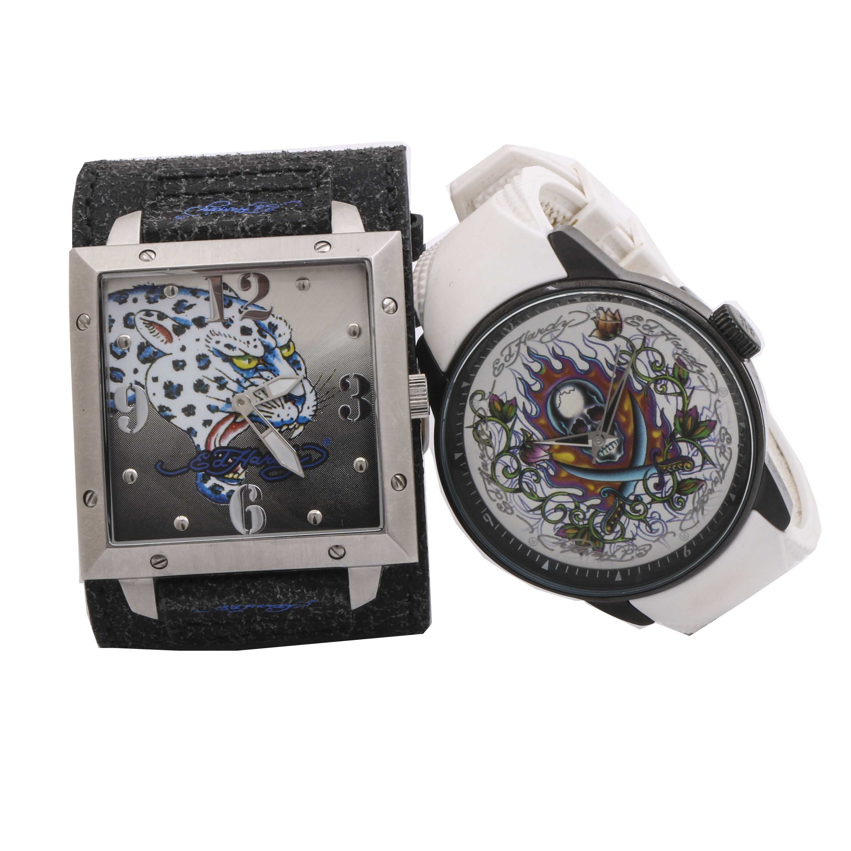 Ed Hardy Stainless Steel Wristwatches