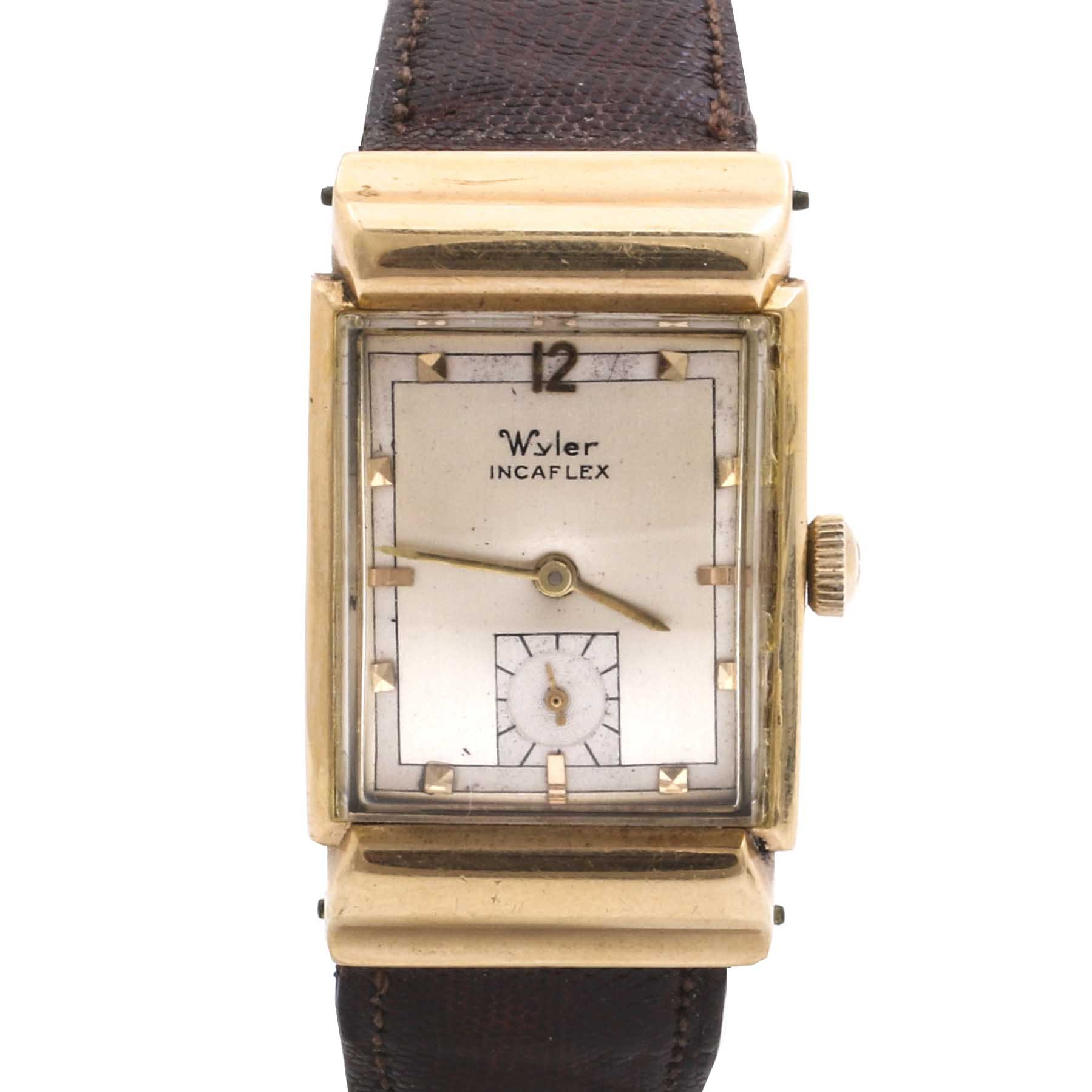 Wyler Incaflex 14K Yellow Gold Wristwatch