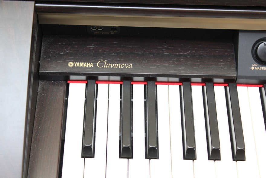 yamaha clavinova digital console piano and bench ebth