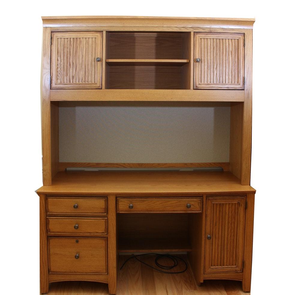Oak Desk by Stanley Furniture