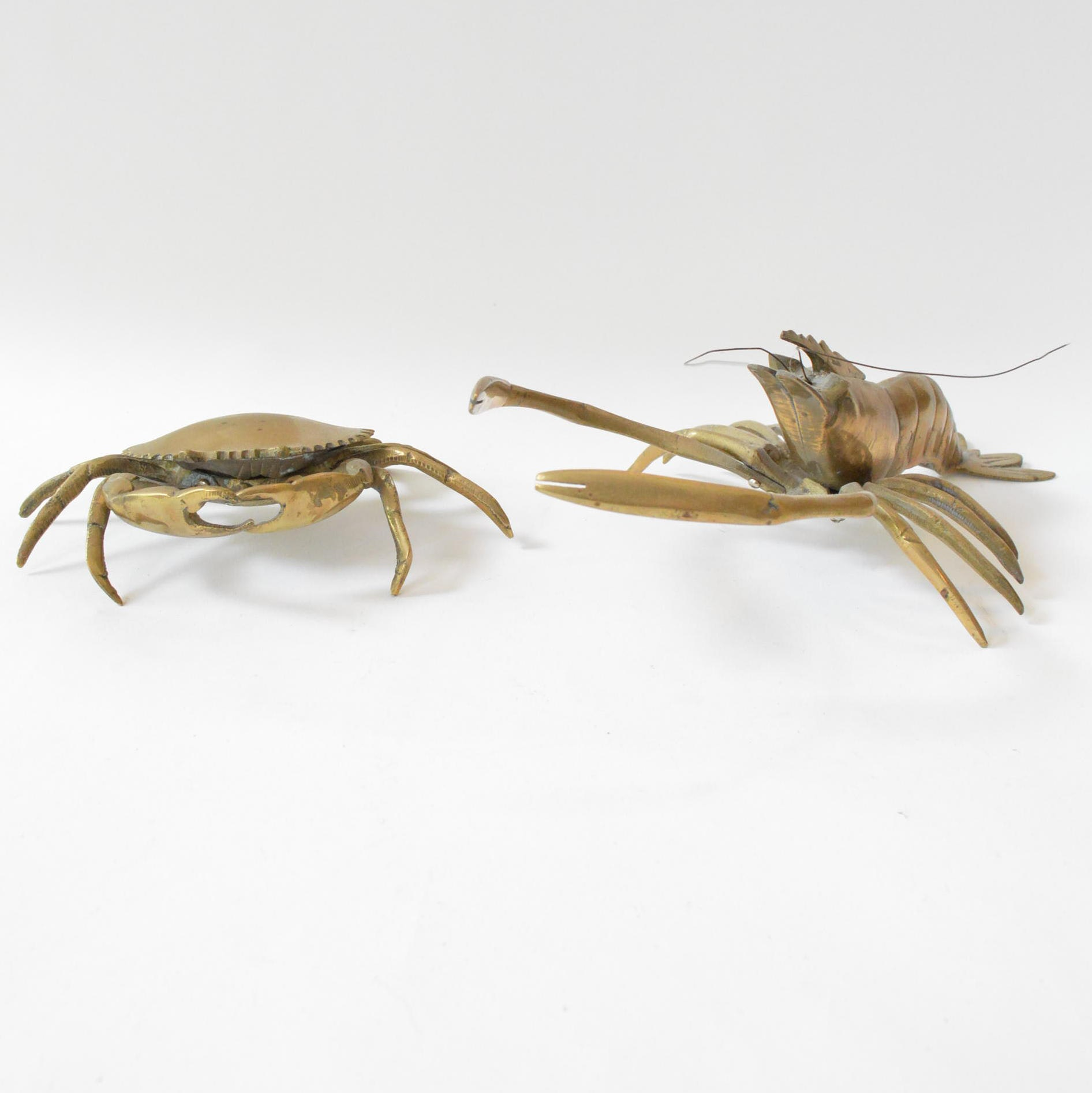 Brass Crustacean Figurines