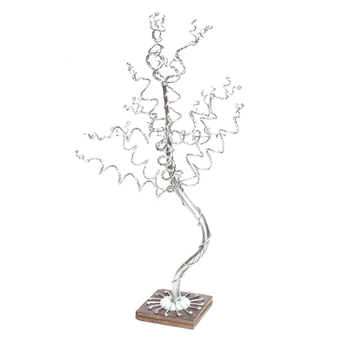 Braided Aluminum Wire Tree Sculpture