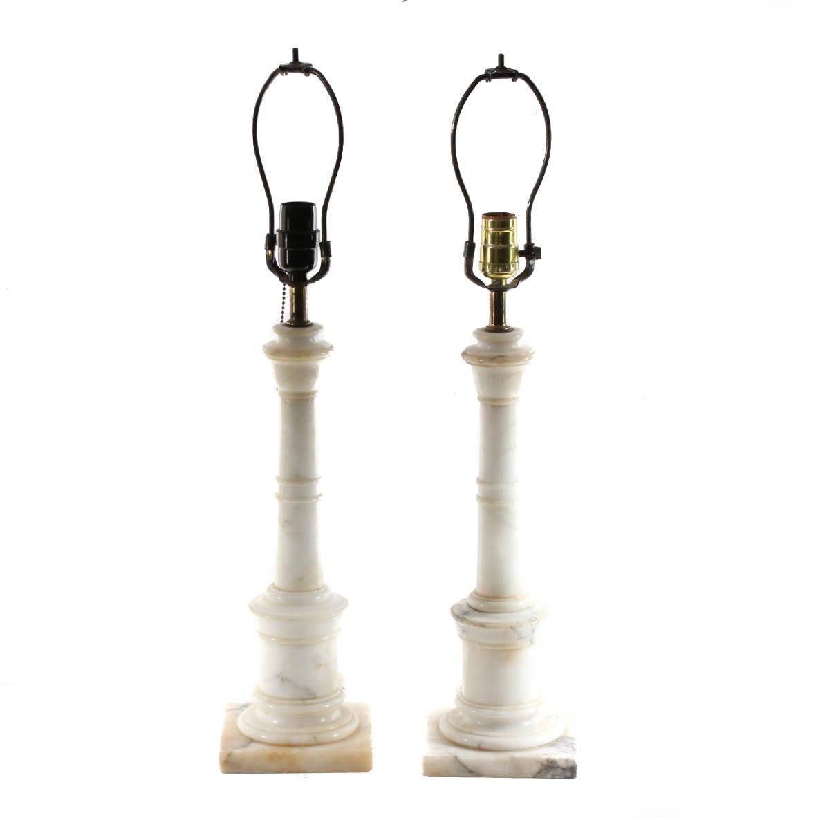 Carrara Marble Table Lamps
