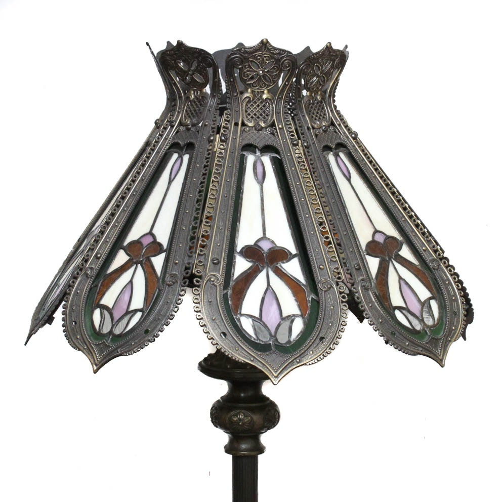 Hand Crafted Stained Glass Floor Lamp