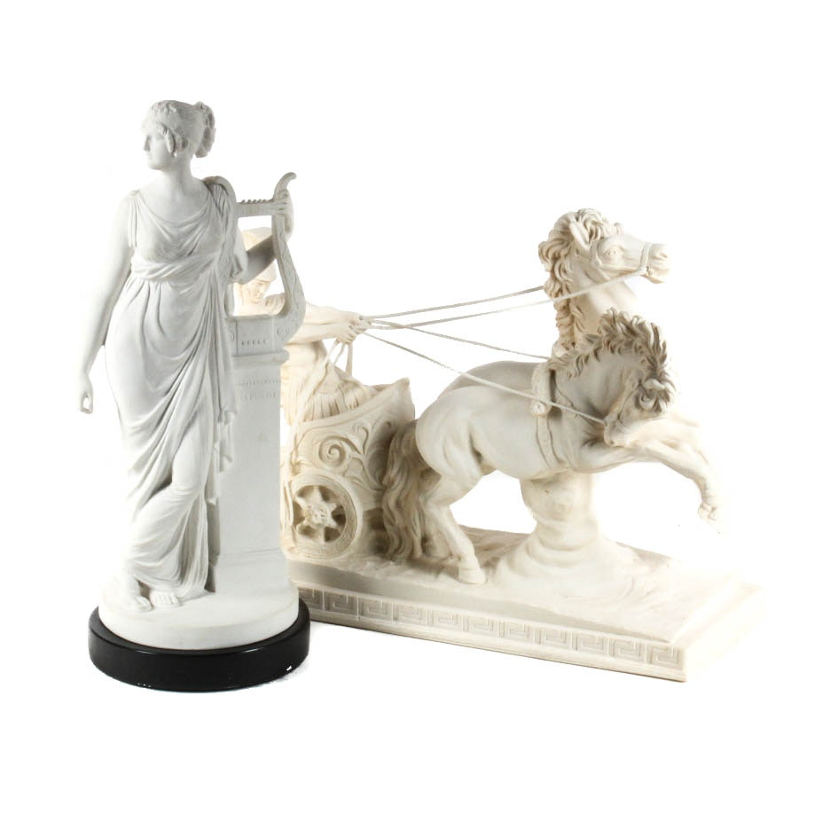 Neoclassical Bonded Marble Sculptures