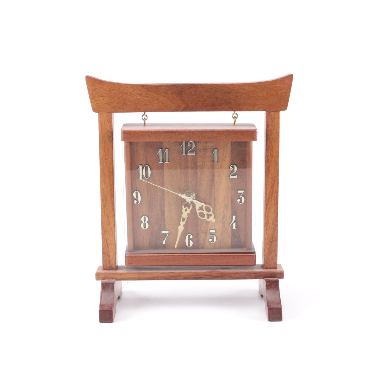 Contemporary Wooden Mantel Clock