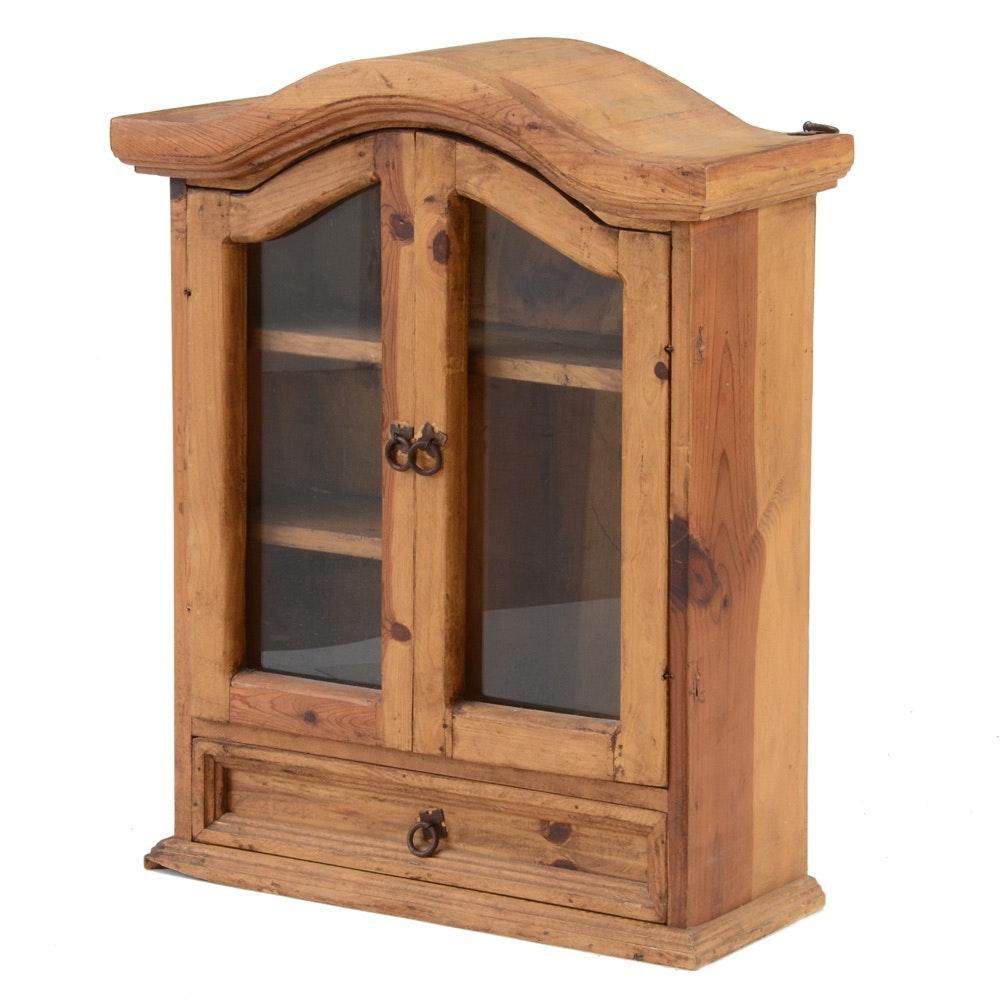 Spanish Style Pine Hanging Cabinet