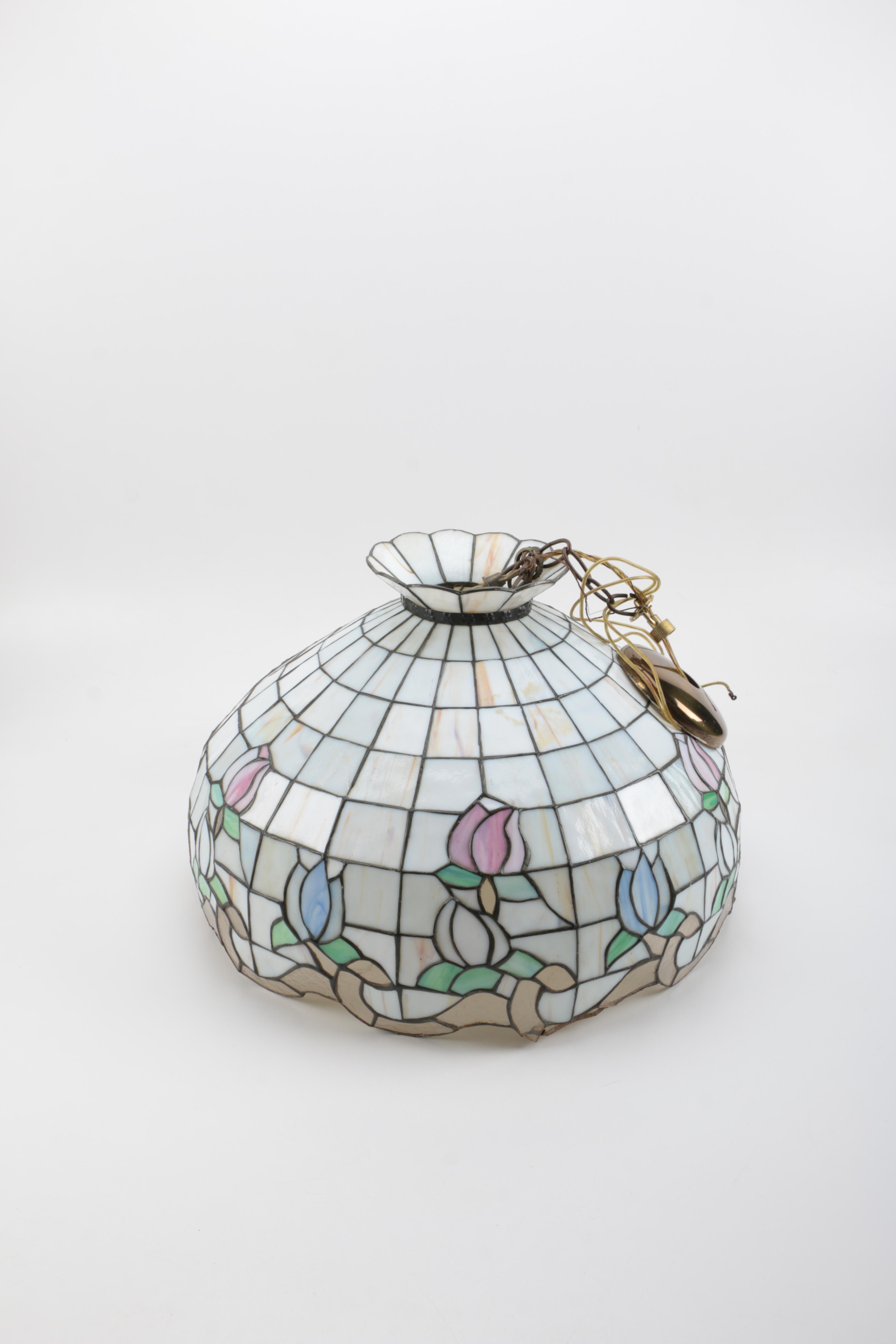 Tiffany-Style Slag Glass Pendant Light Fixture