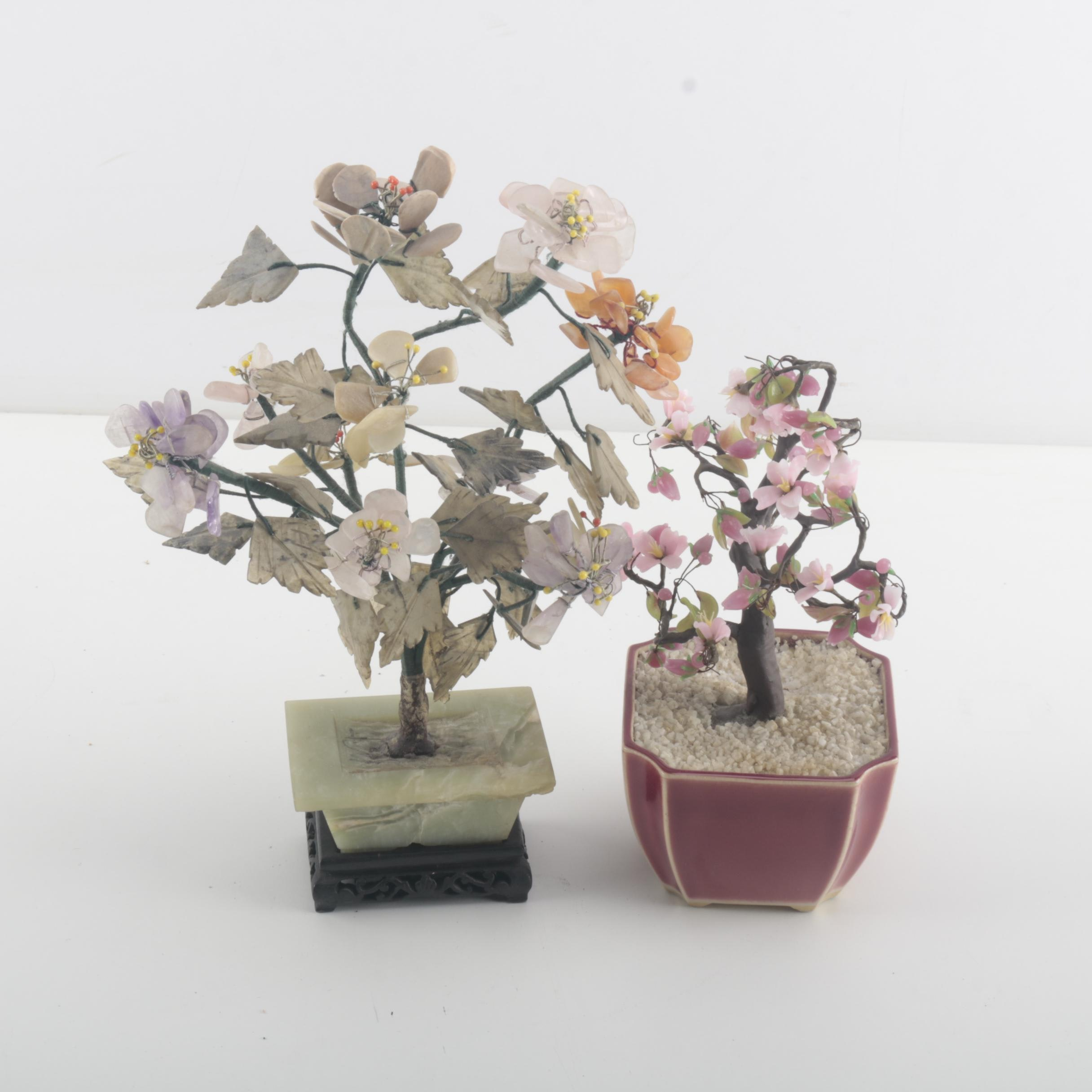 Pair of Decorative Trees From Japan