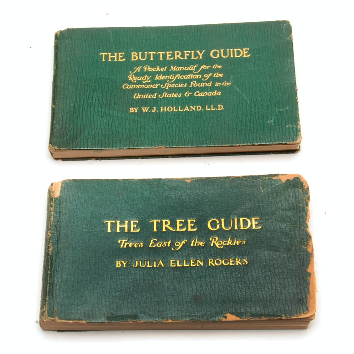 Leather Bond Soft Cover Guide Books About Trees and Butterflies