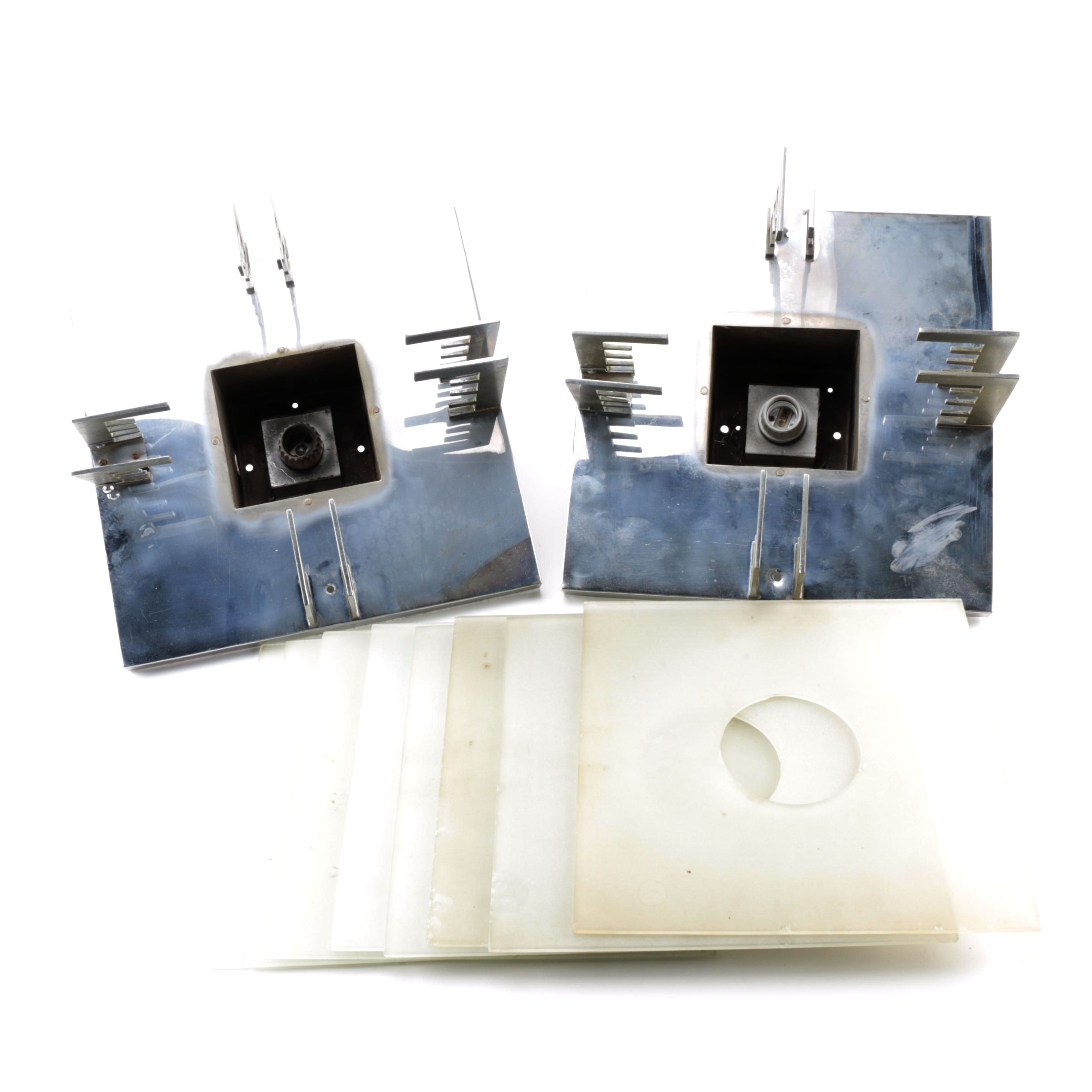 Chrome Electrical Lights with Glass