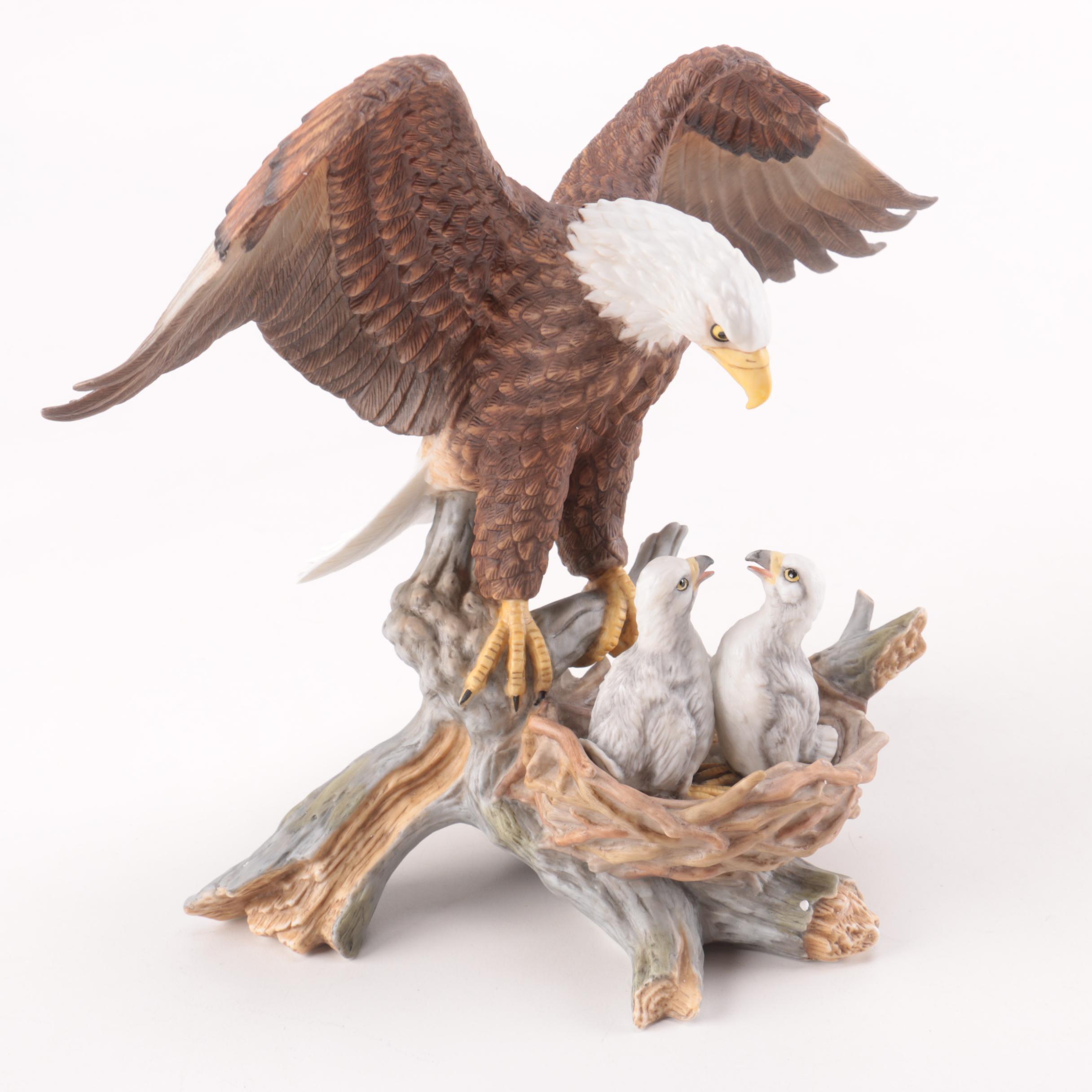 Porcelain Bald Eagle Figurine