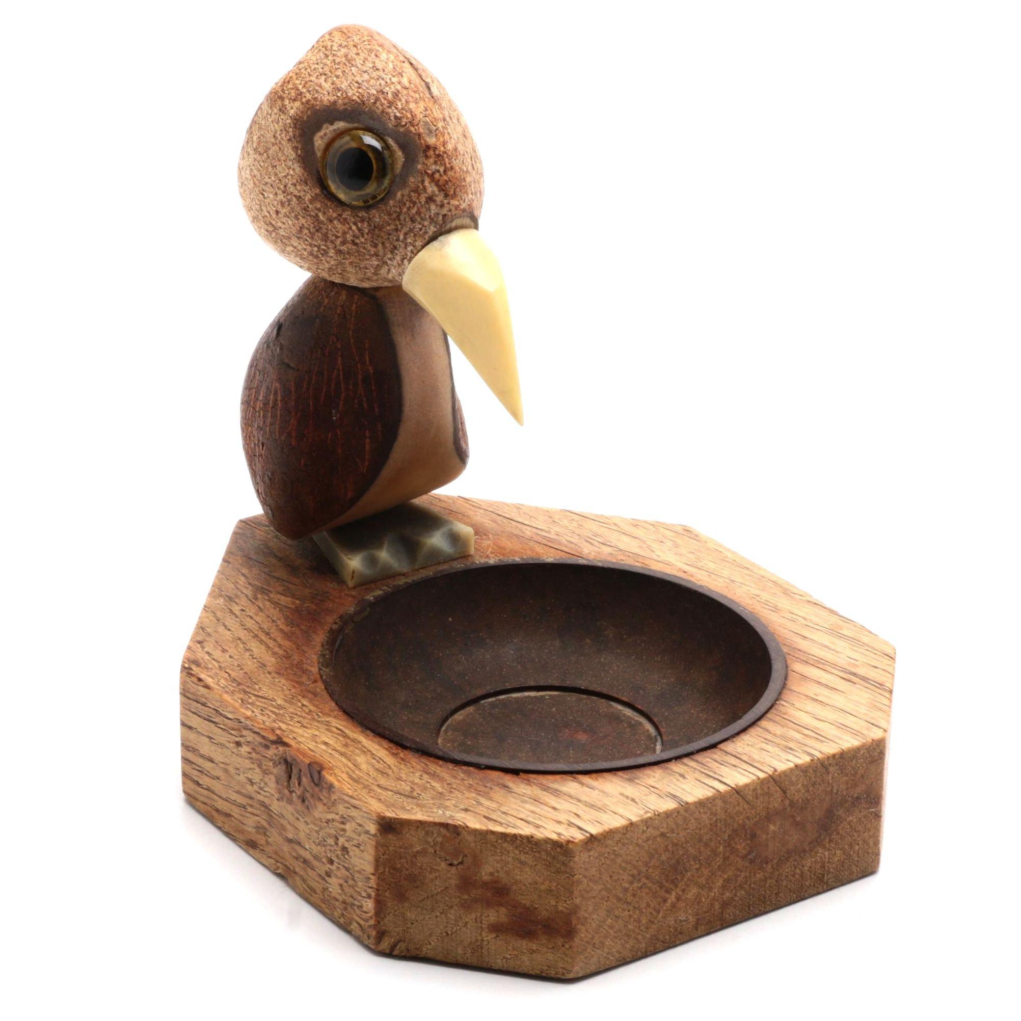 English Art Deco Nut Bird Ashtray