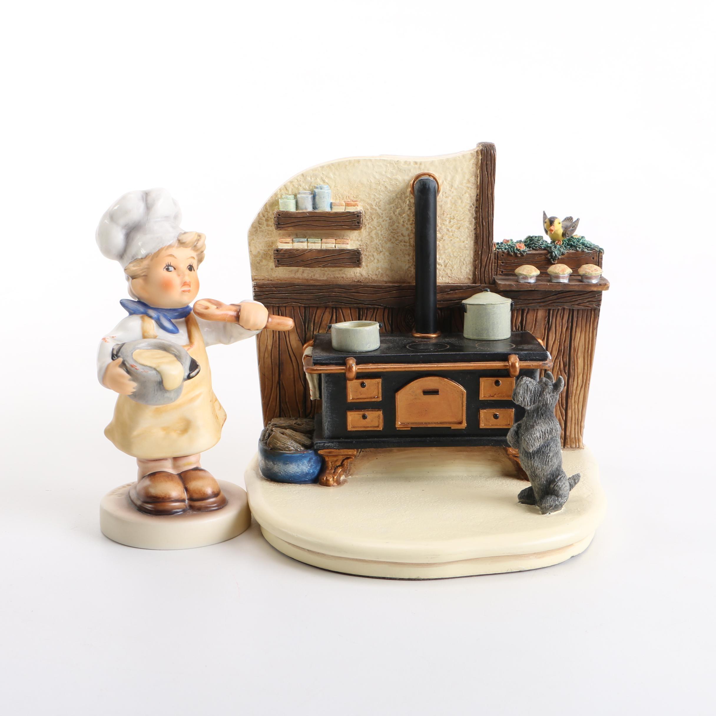 "Hummel Accents Gift Box Set Titled ""Kozy Kitchen"""