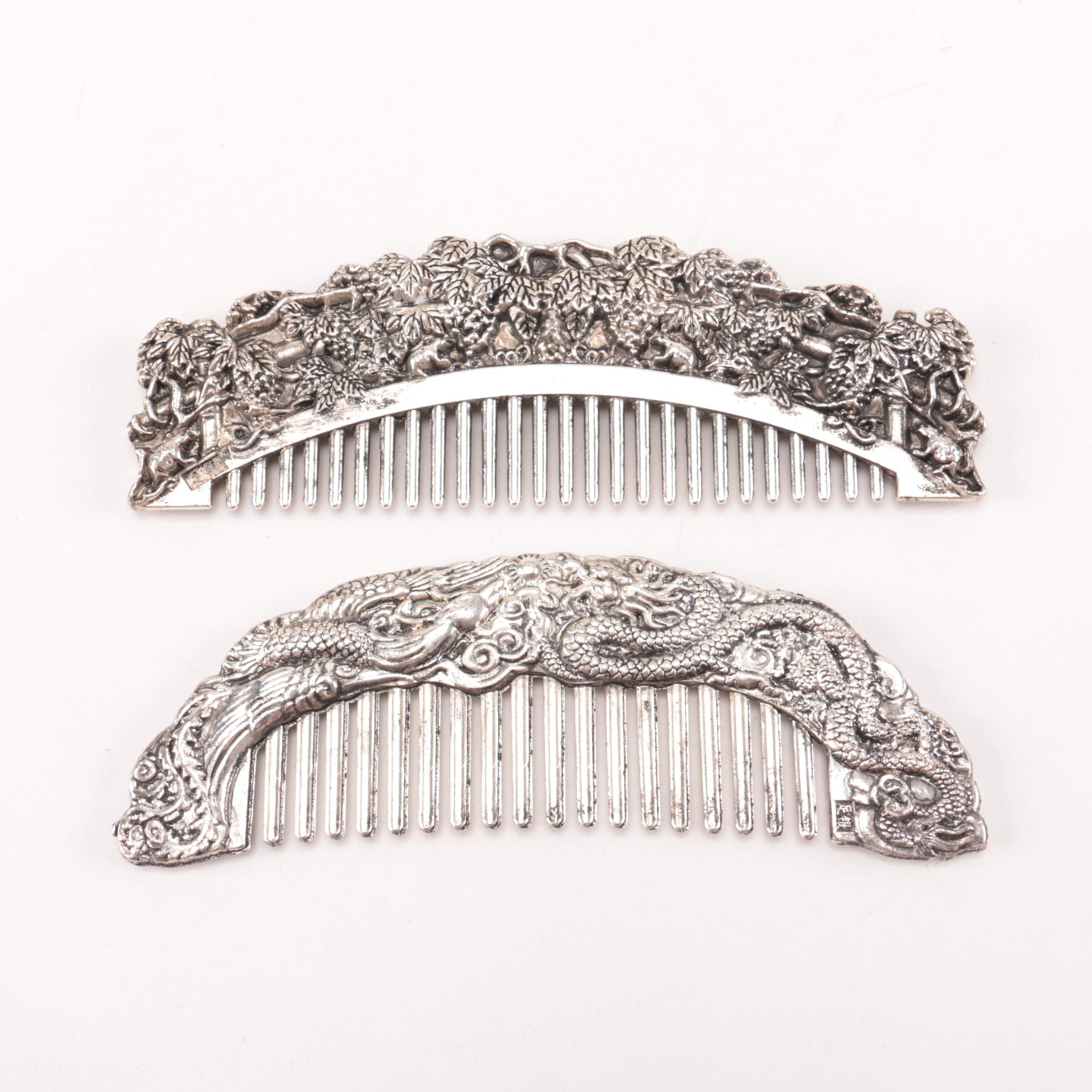 Chinese Silver-Tone Combs