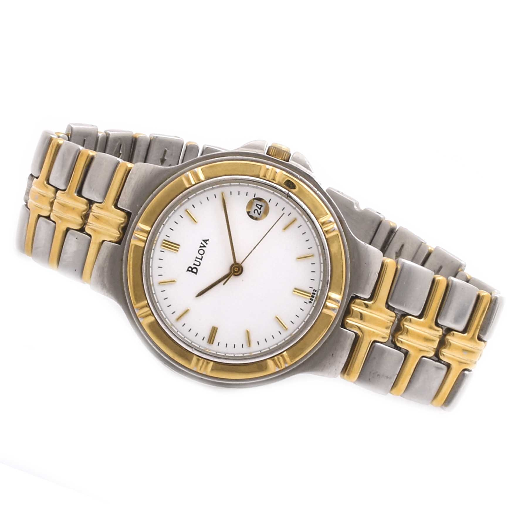 Bulova Two-Tone Stainless Steel Wristwatch