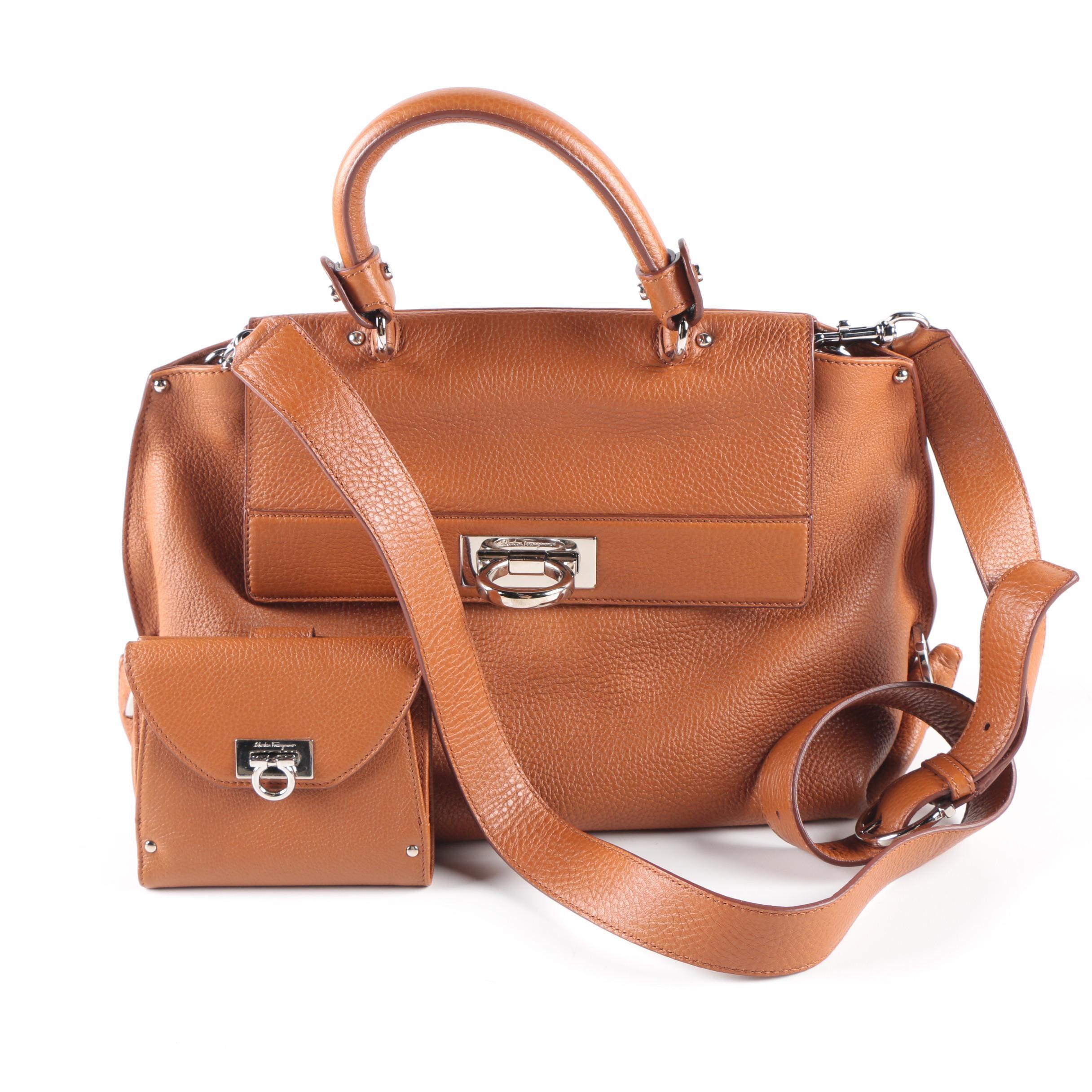 Salvatore Ferragamo Handbag and Matching Wallet